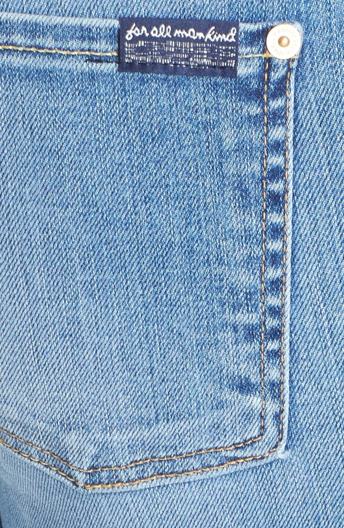 Alternate Image 3  - 7 For All Mankind® 'Modern' Straight Leg Stretch Jeans (Super Sanded Blue)