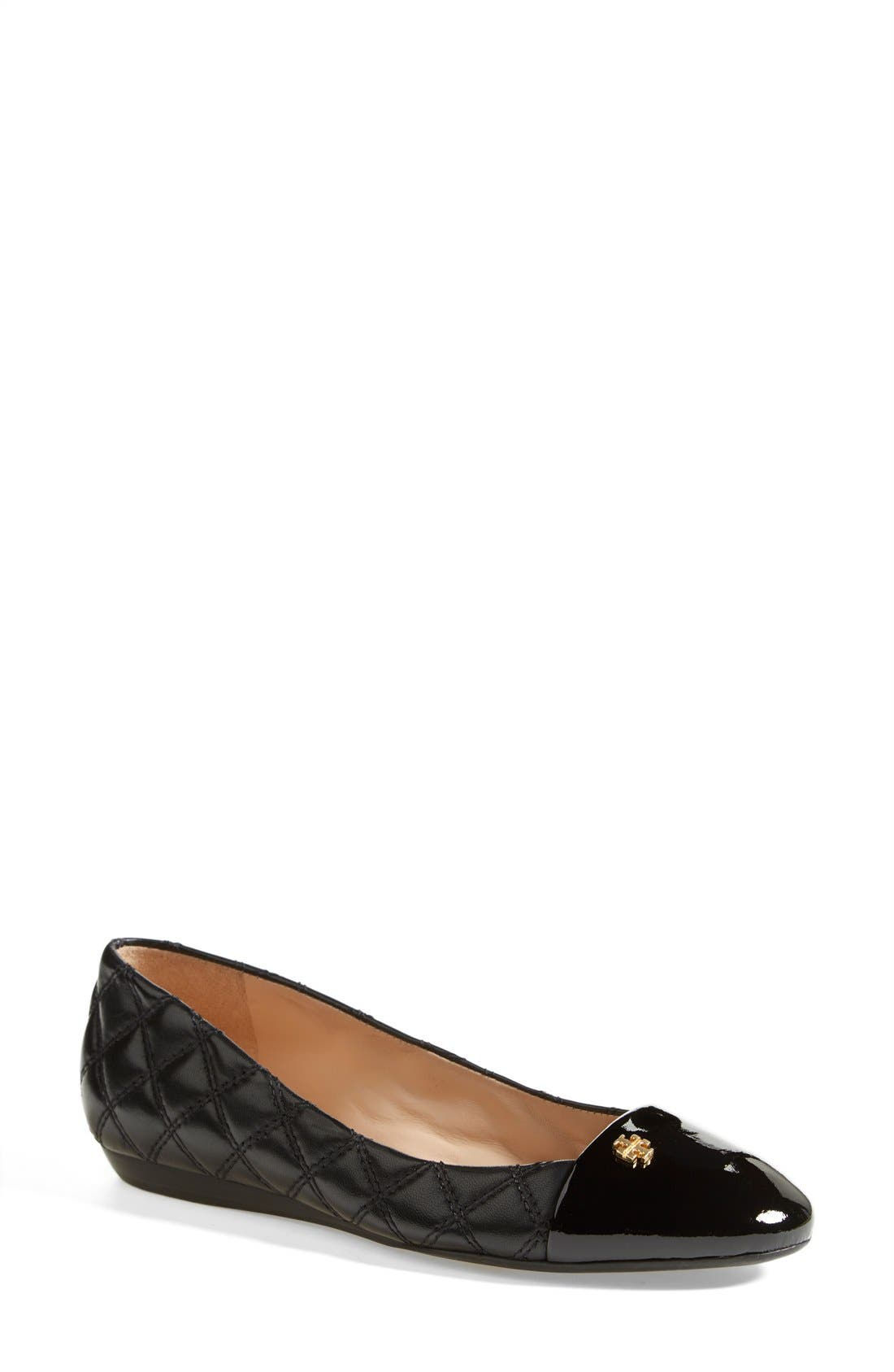Main Image - Tory Burch 'Claremont' Quilted Flat (Women)