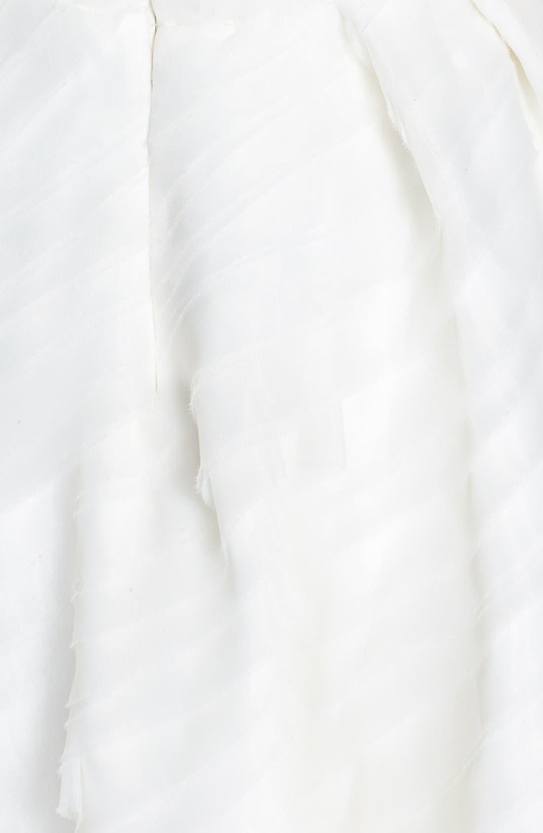 Alternate Image 3  - Kirstie Kelly Strapless Laser Cut Organza Dress