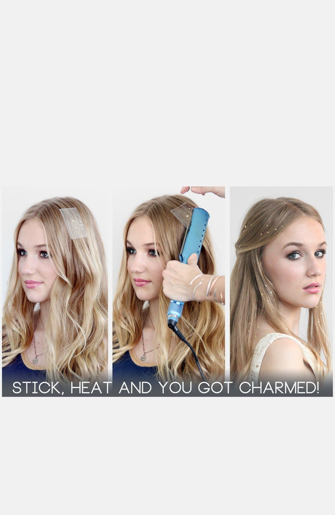 Alternate Image 2  - Charmsies Iron-In Pyramid Stud Hair Charms