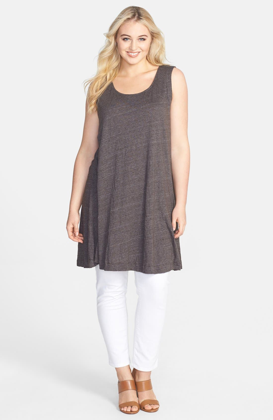 Alternate Image 1 Selected - Chalet 'Liz' Jersey Tunic Tank (Plus Size)