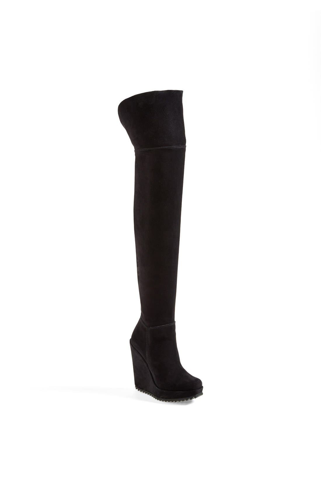 'Vanne' Over-the-Knee Boot,                             Main thumbnail 1, color,                             Black