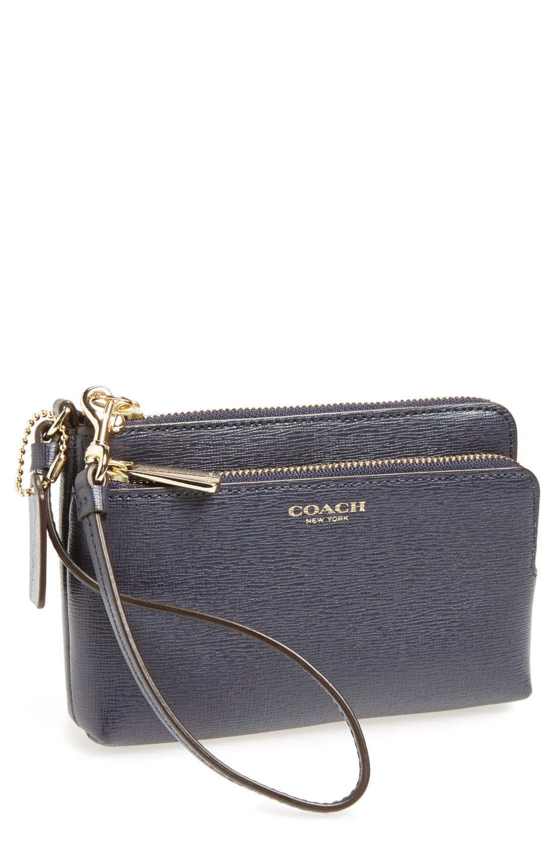 Alternate Image 1 Selected - COACH Saffiano Leather Phone Wristlet