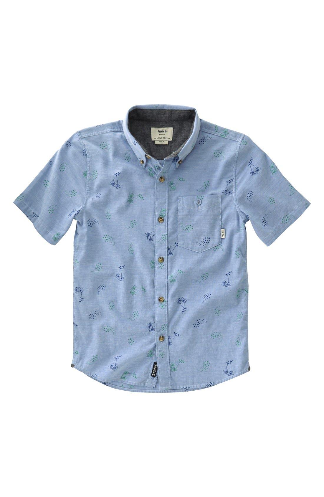 Alternate Image 1 Selected - Vans 'Baines' Print Oxford Woven Shirt (Big Boys)