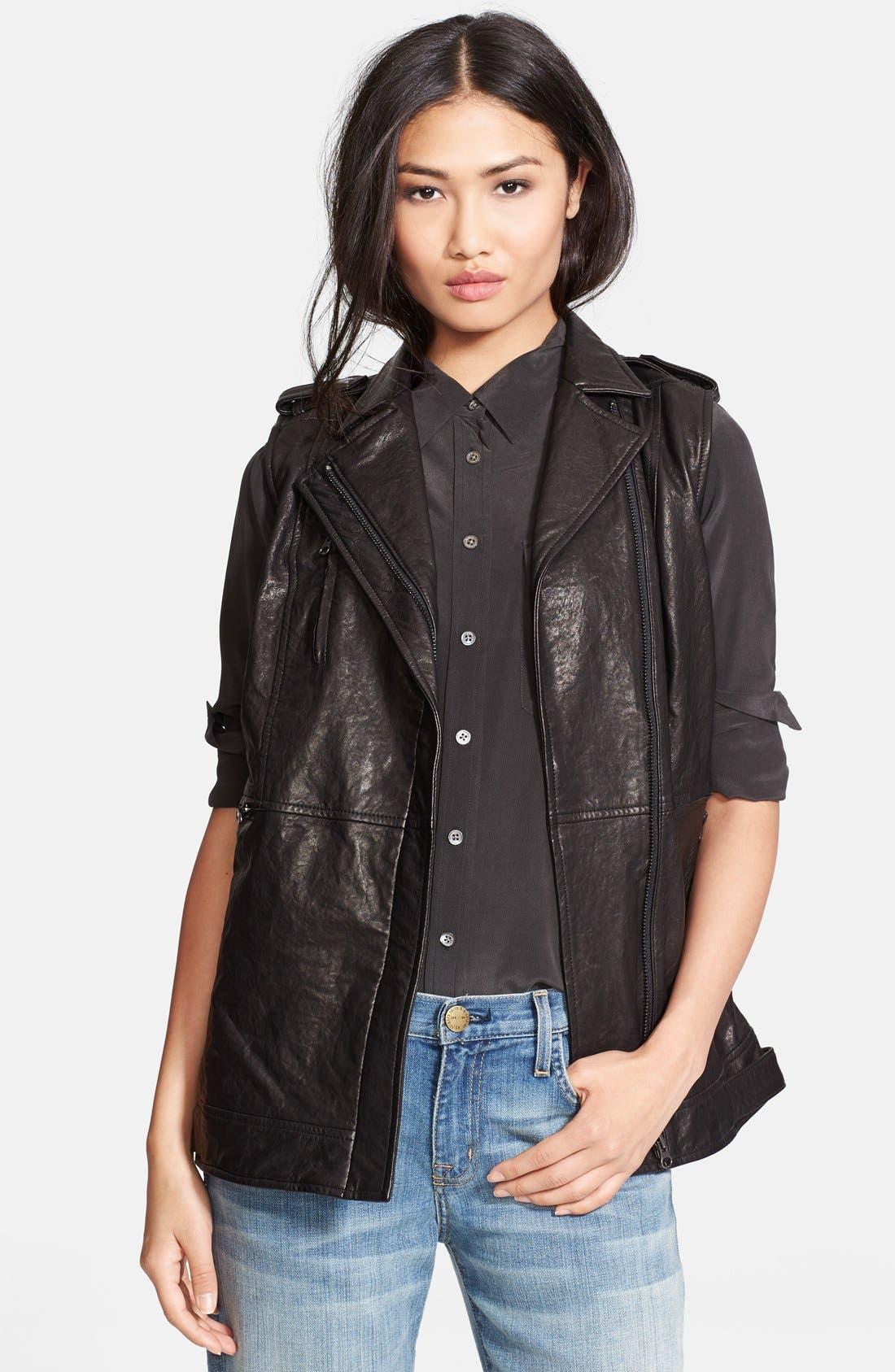 Alternate Image 1 Selected - Truth & Pride 'Studied' Leather Vest.