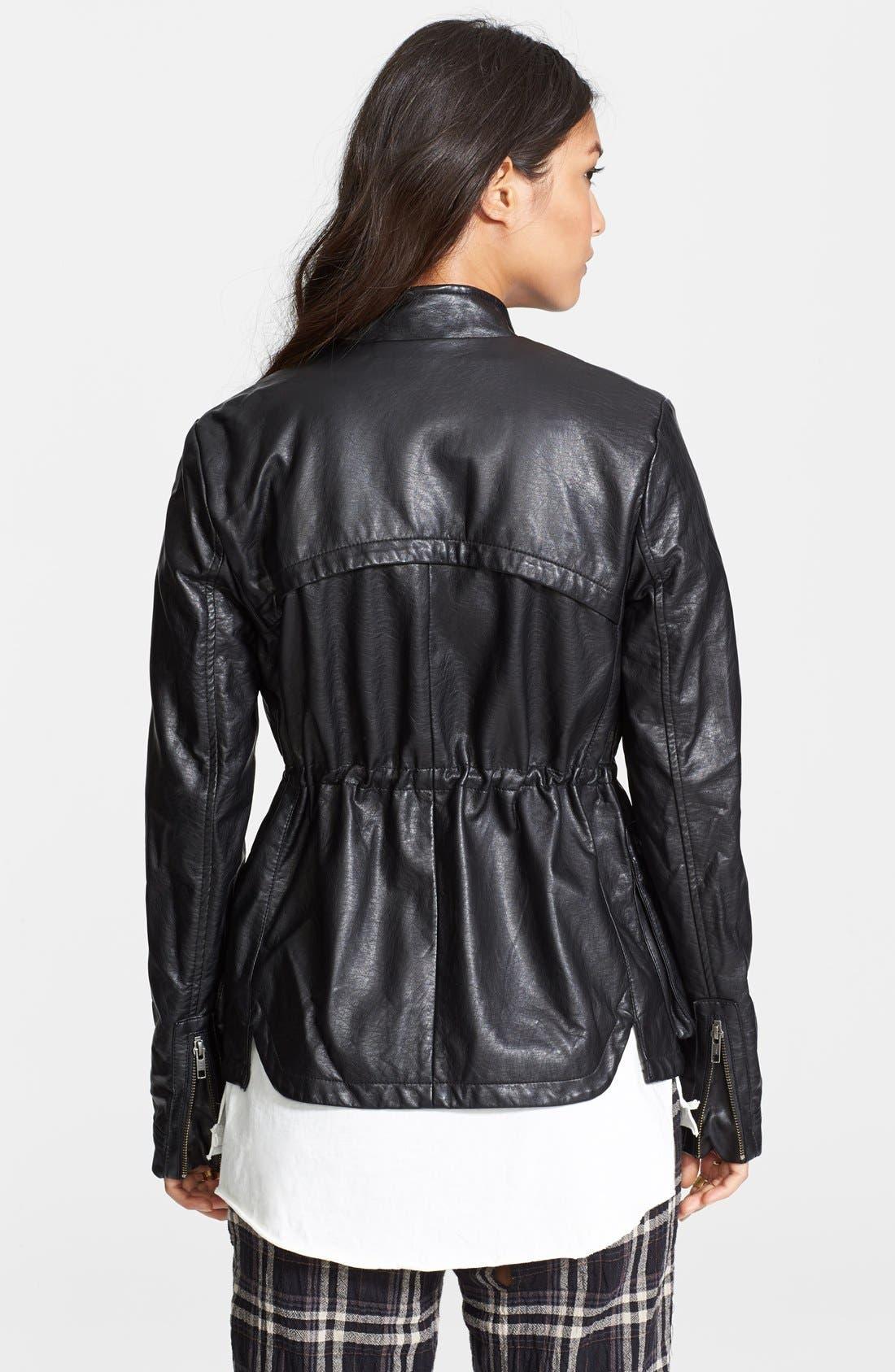 Alternate Image 2  - Free People Faux Leather Cargo Jacket