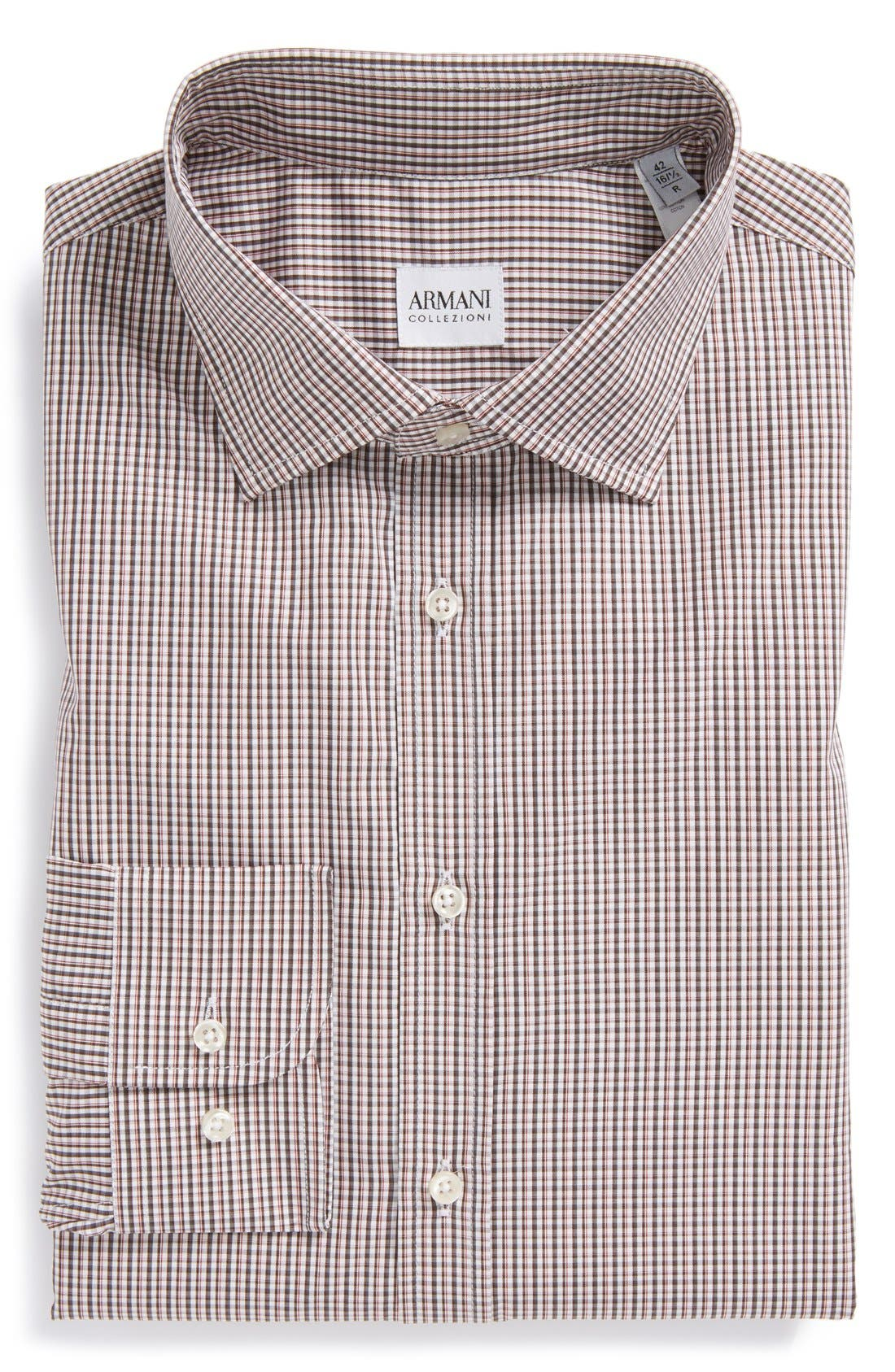 Main Image - Armani Collezioni Plaid Dress Shirt