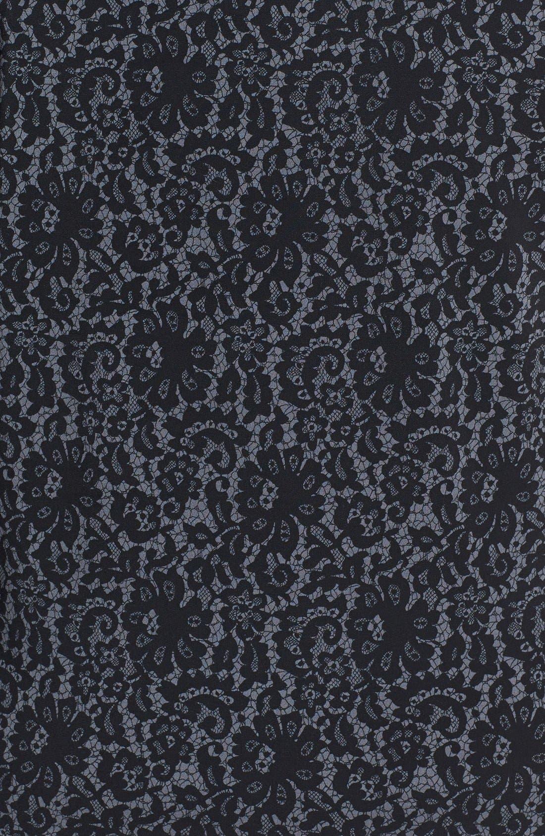 Alternate Image 3  - Vince Camuto 'Chantilly' Lace Print V-Neck Top (Plus Size)