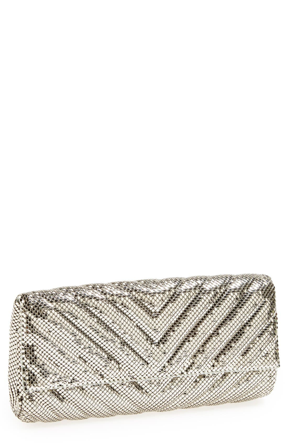 Alternate Image 1 Selected - Whiting & Davis Quilted Chevron Clutch