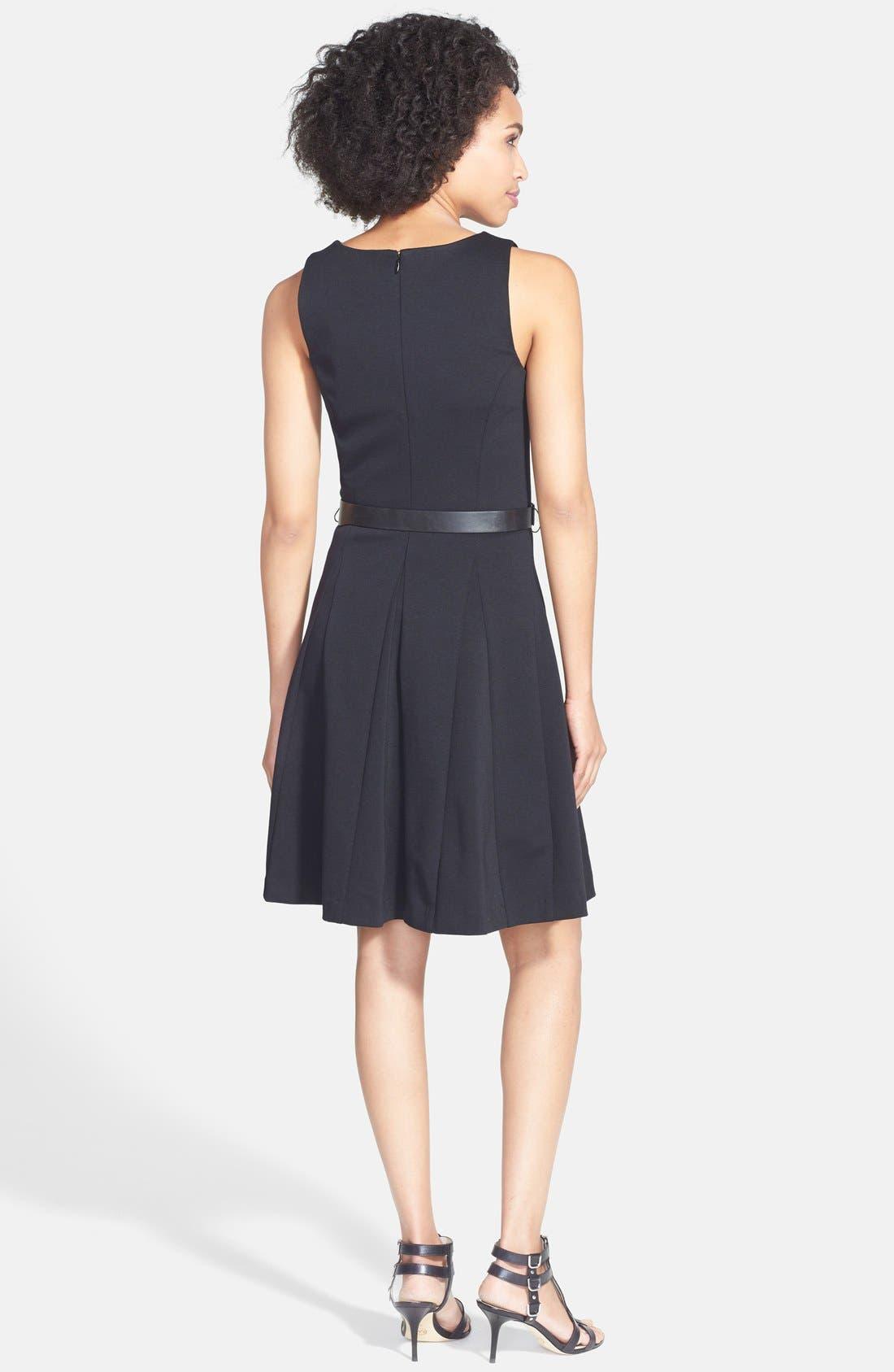 Alternate Image 2  - MICHAEL Michael Kors Belted Fit & Flare Dress
