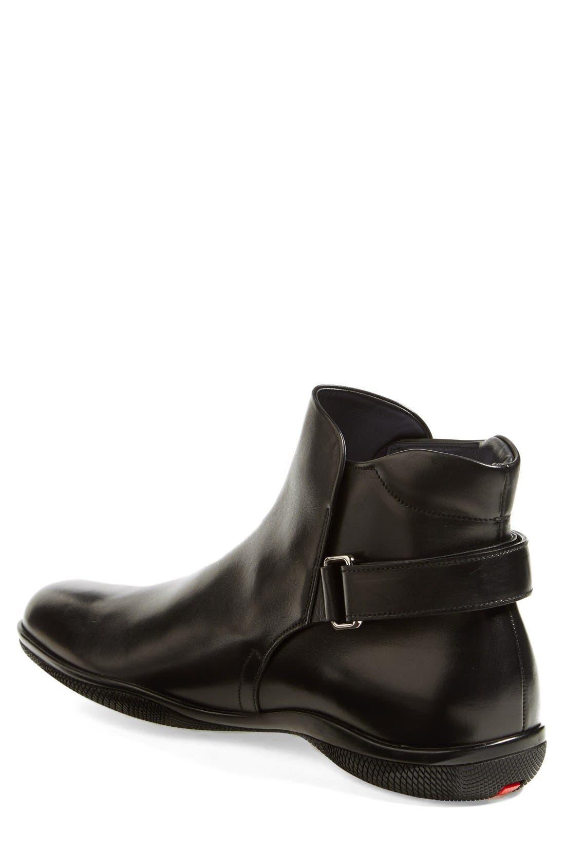 Alternate Image 2  - Prada 'Toblak' Plain Toe Boot (Men)