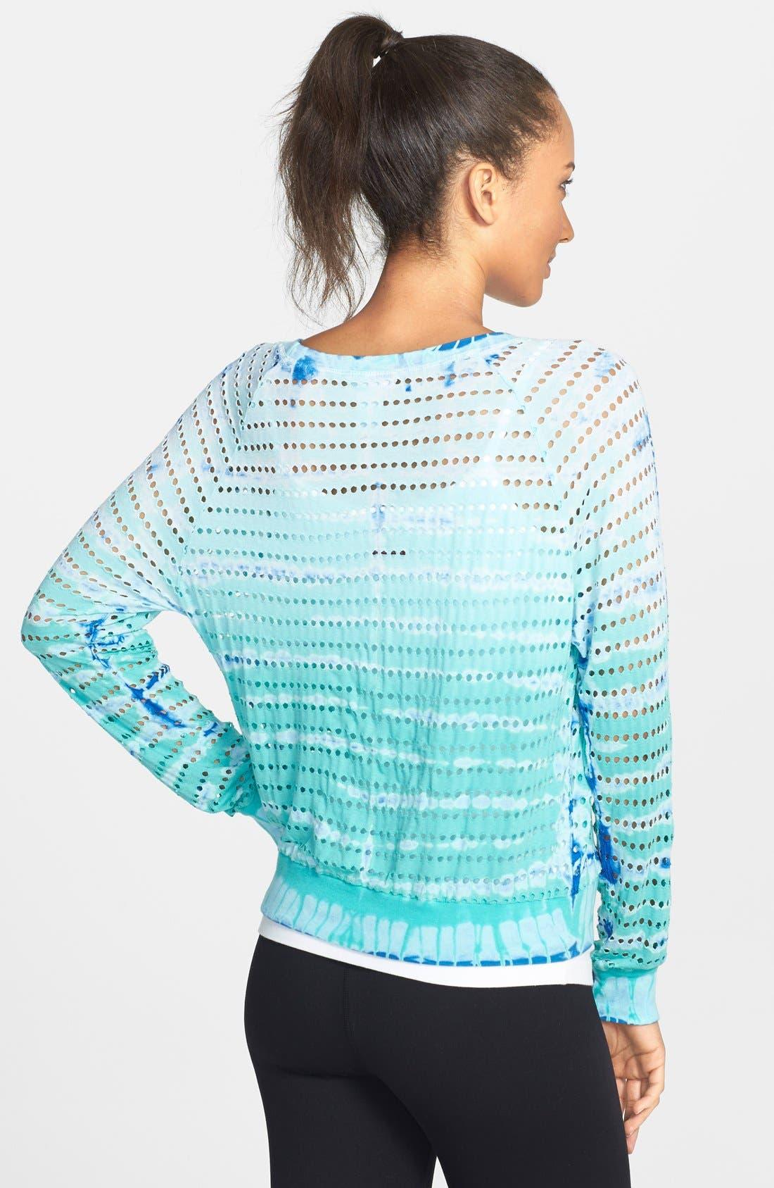 Alternate Image 2  - Hard Tail 'Shrinky' Perforated Tie Dye Crop Sweatshirt