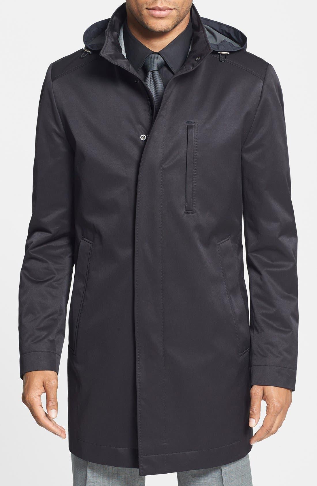 Main Image - BOSS 'The Donal' Trim Fit Raincoat