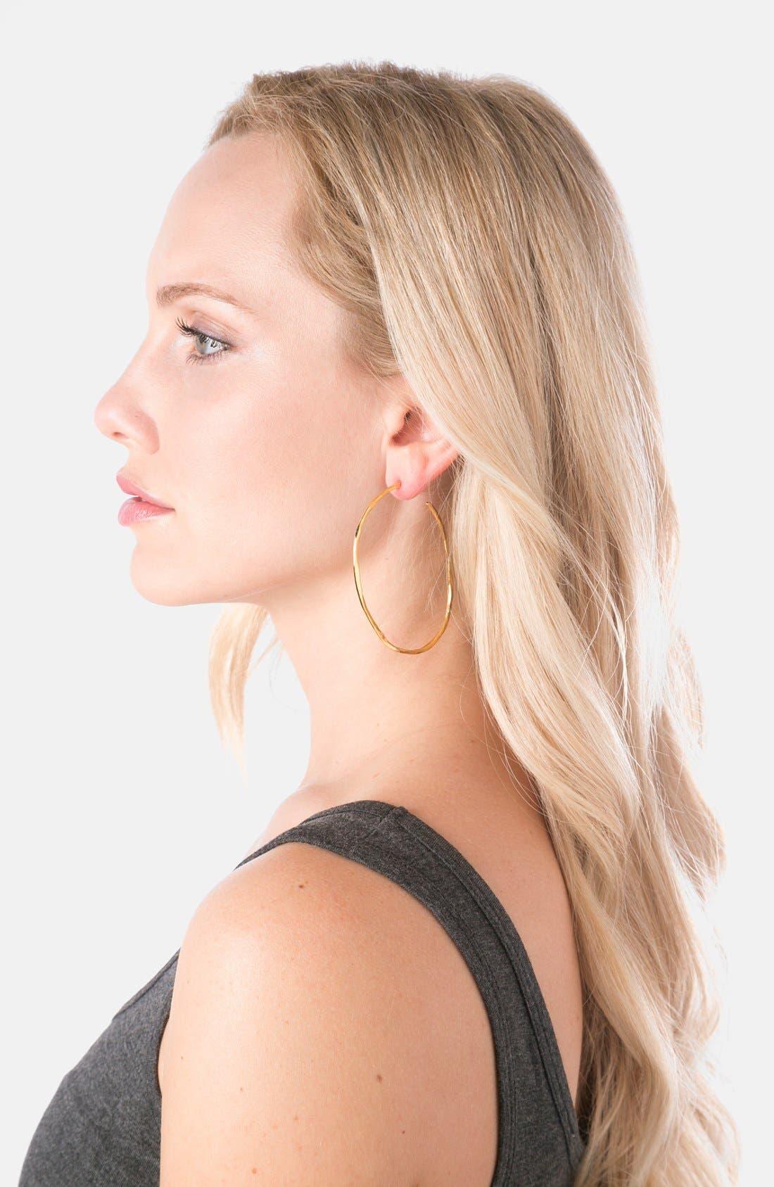 'Laurel' Hoop Earrings,                             Alternate thumbnail 2, color,                             Gold