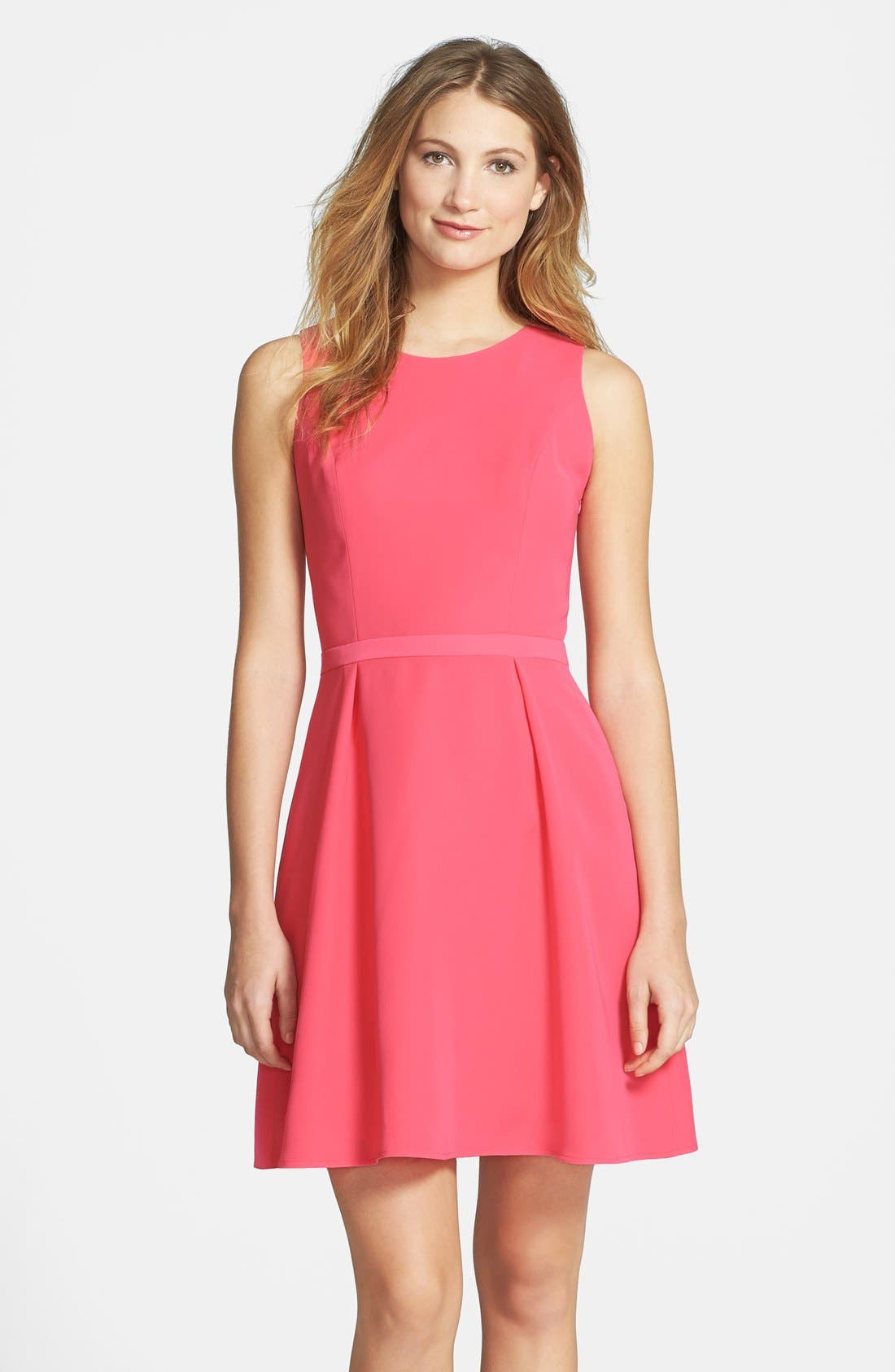 Alternate Image 1 Selected - Cynthia Steffe Knot Back Crepe Fit & Flare Dress