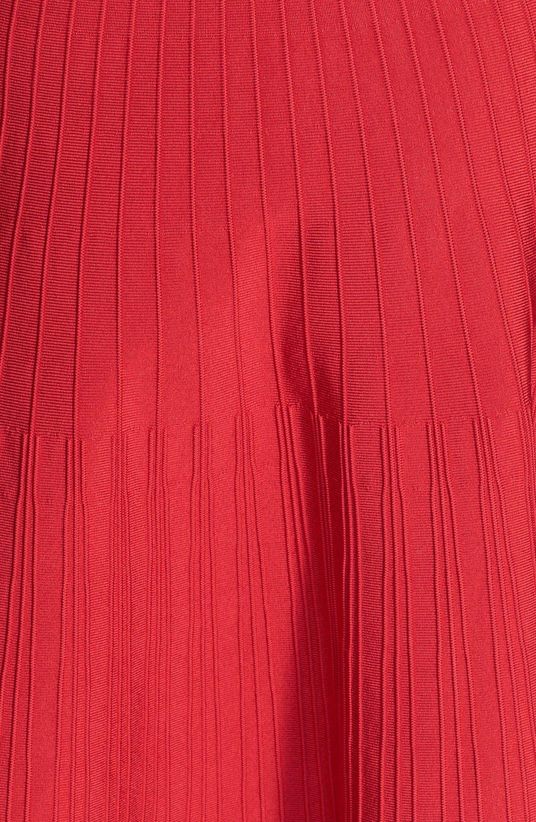 Alternate Image 3  - Pink Tartan Ribbed Fit & Flare Dress