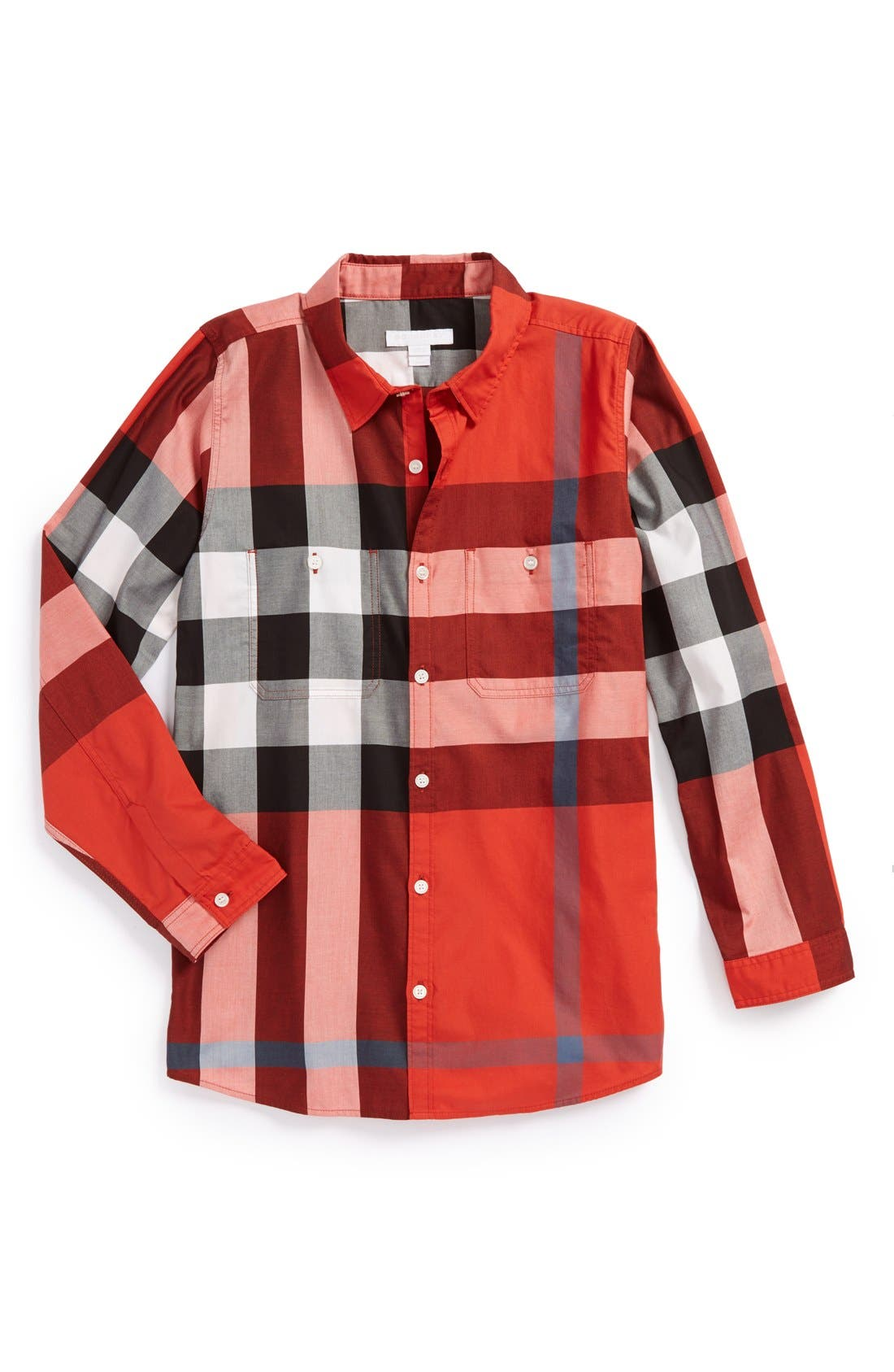 Alternate Image 1 Selected - Burberry Check Print Woven Shirt (Toddler Boys, Little Boys & Big Boys)