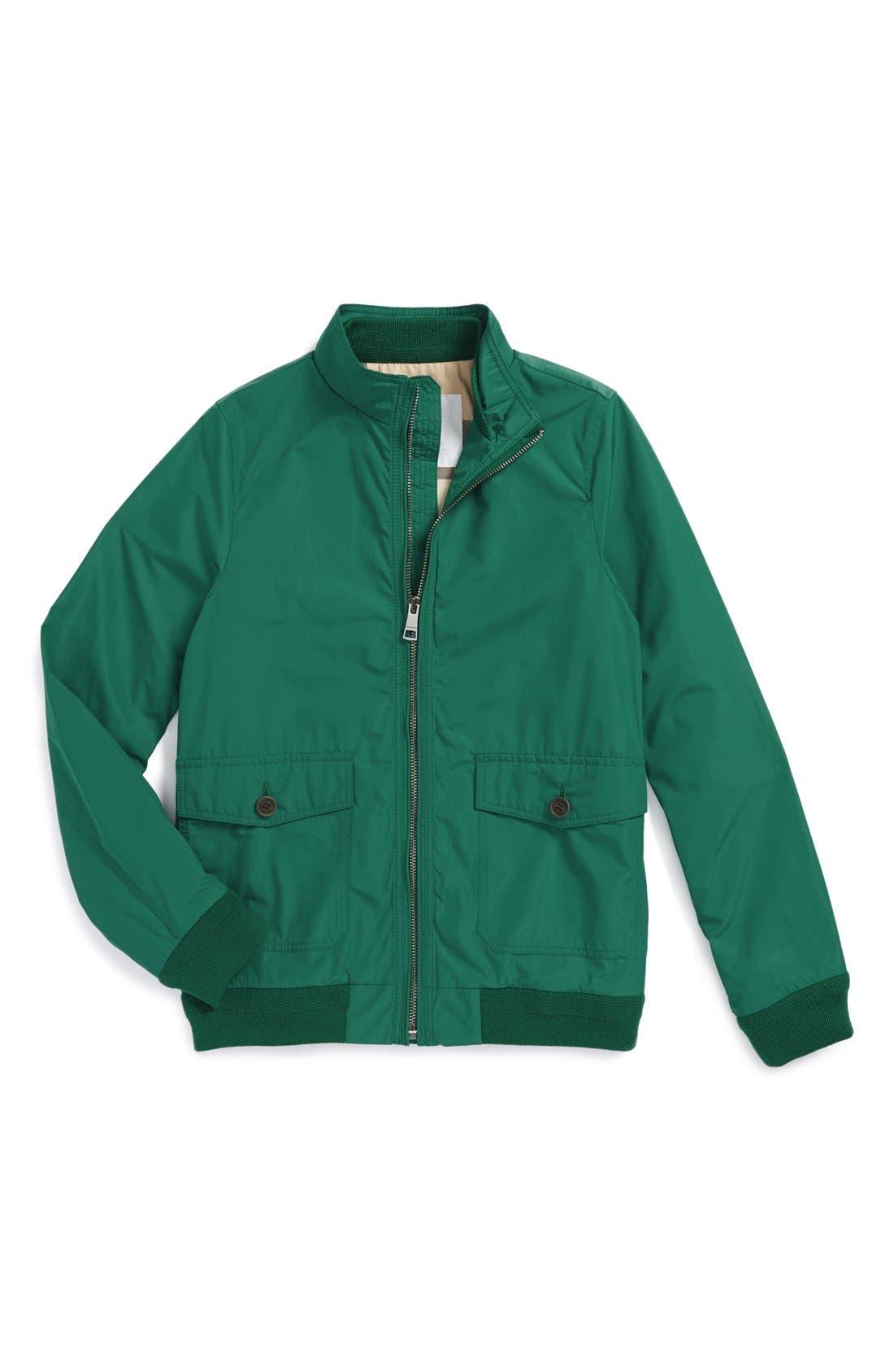 Alternate Image 1 Selected - Burberry Blouson Technical Water Resistant Jacket (Little Boys & Big Boys)