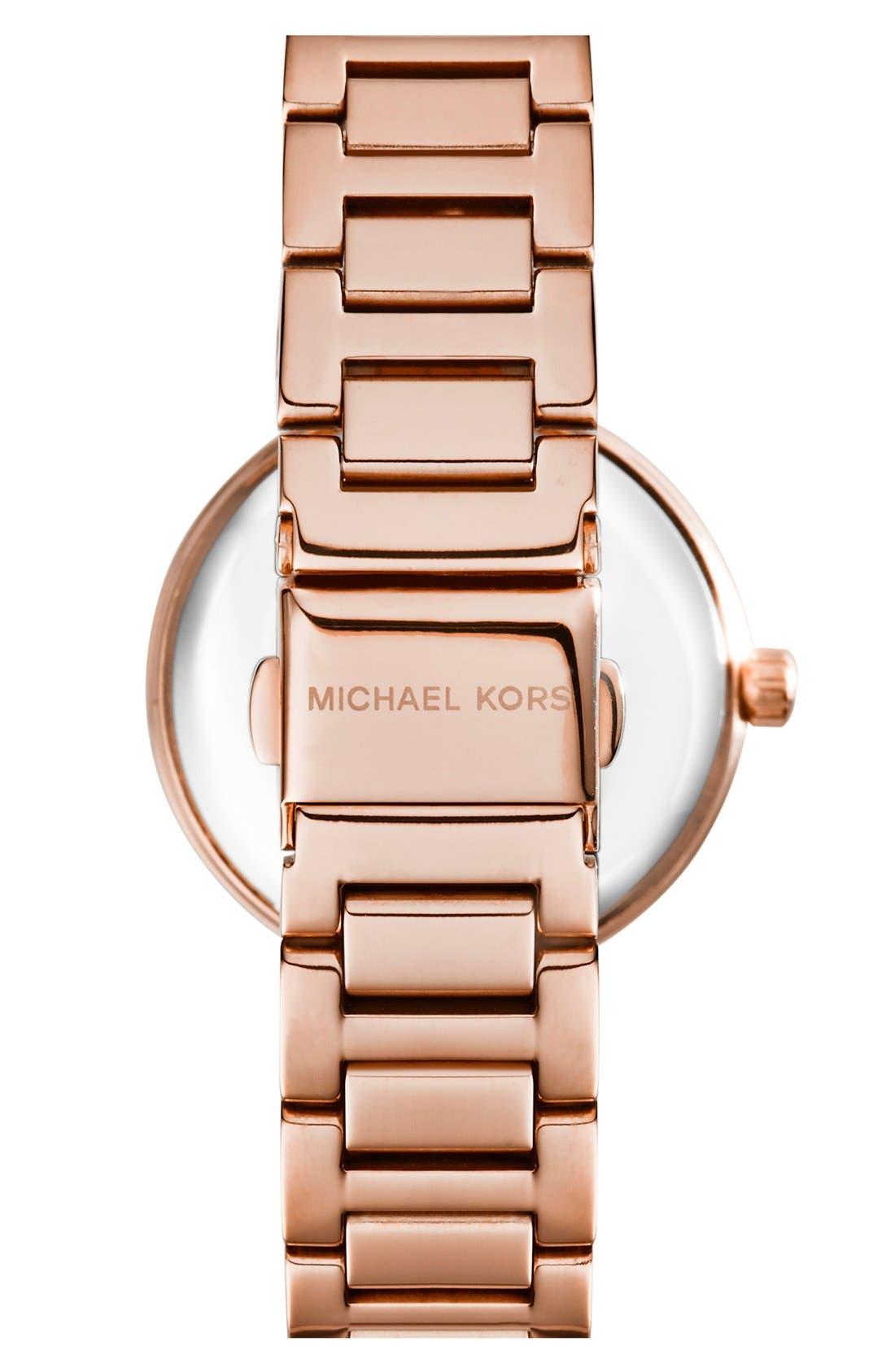 Alternate Image 2  - Michael Kors 'Skylar - Small' Crystal Bezel Bracelet Watch, 33mm