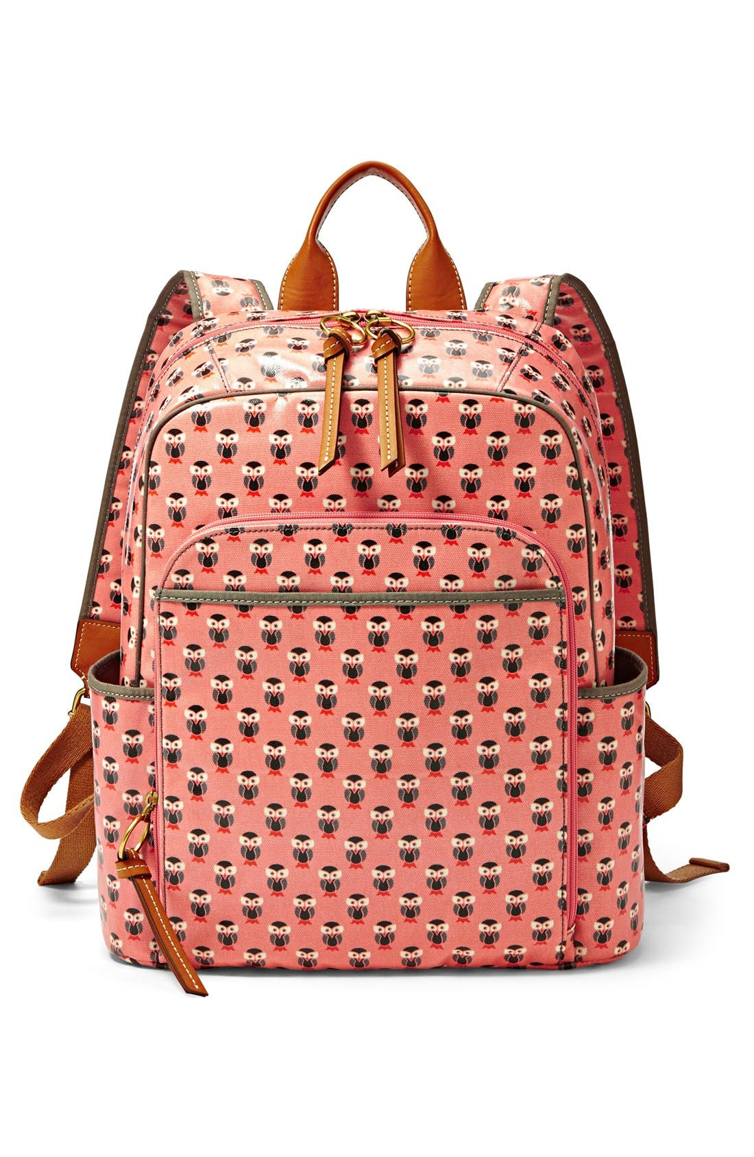 Alternate Image 5  - Fossil 'Key-Per' Print Coated Canvas Backpack