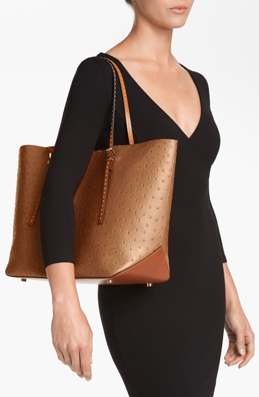 Alternate Image 2  - Michael Kors 'Gia' Ostrich Embossed Leather Tote