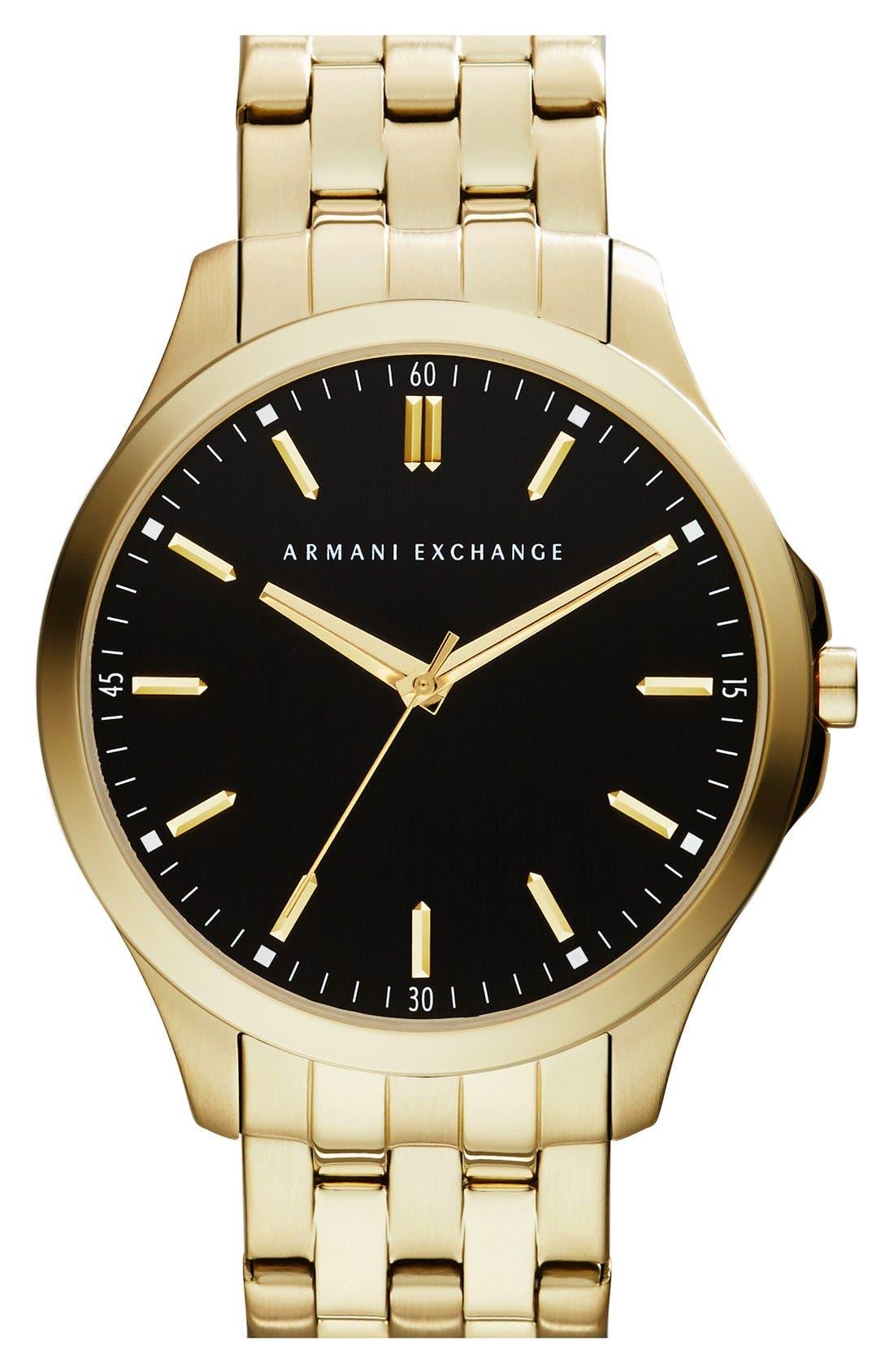 Round Bracelet Watch, 45mm,                         Main,                         color, Gold/ Black