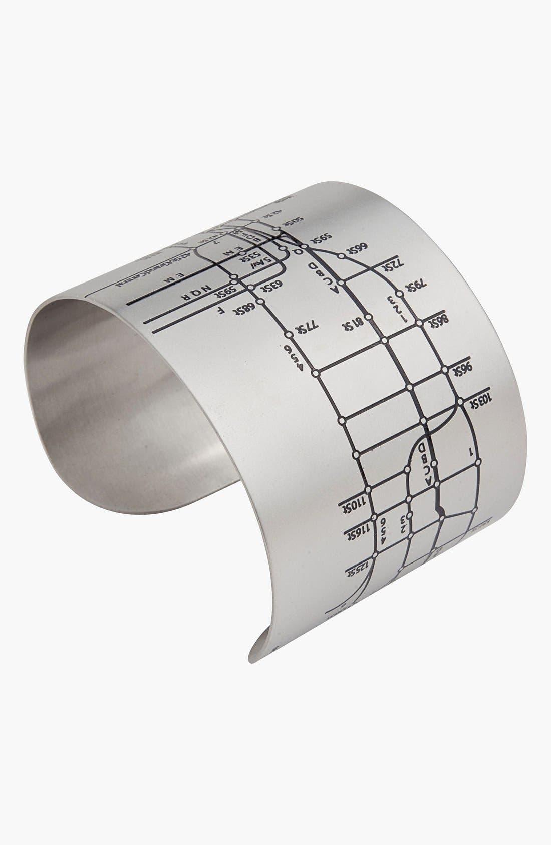 Alternate Image 2  - Designhype 'NYC Metro Subway Map' Cuff Bracelet