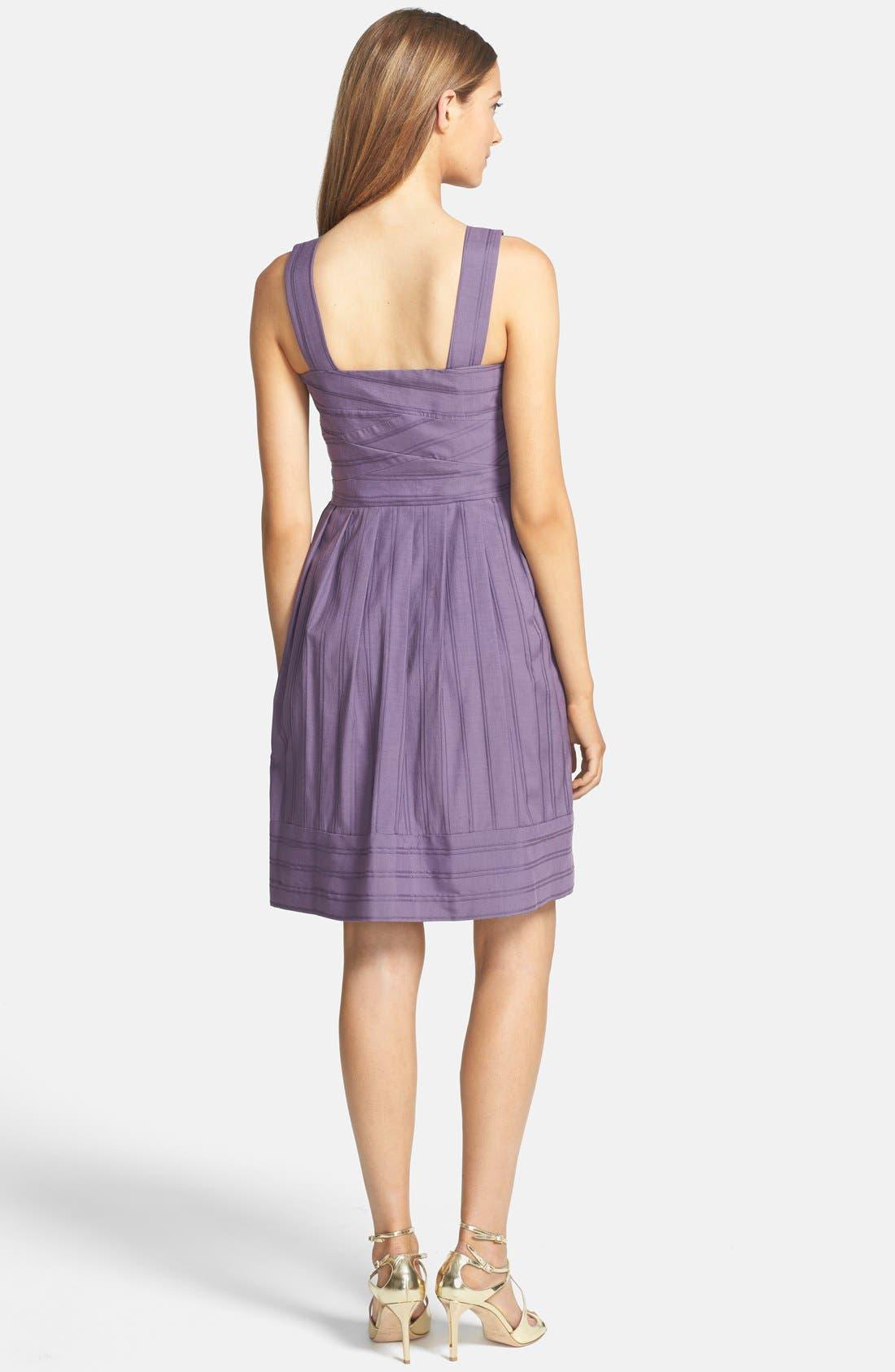 Alternate Image 2  - Ivy & Blu Pintuck Fit & Flare Tank Dress