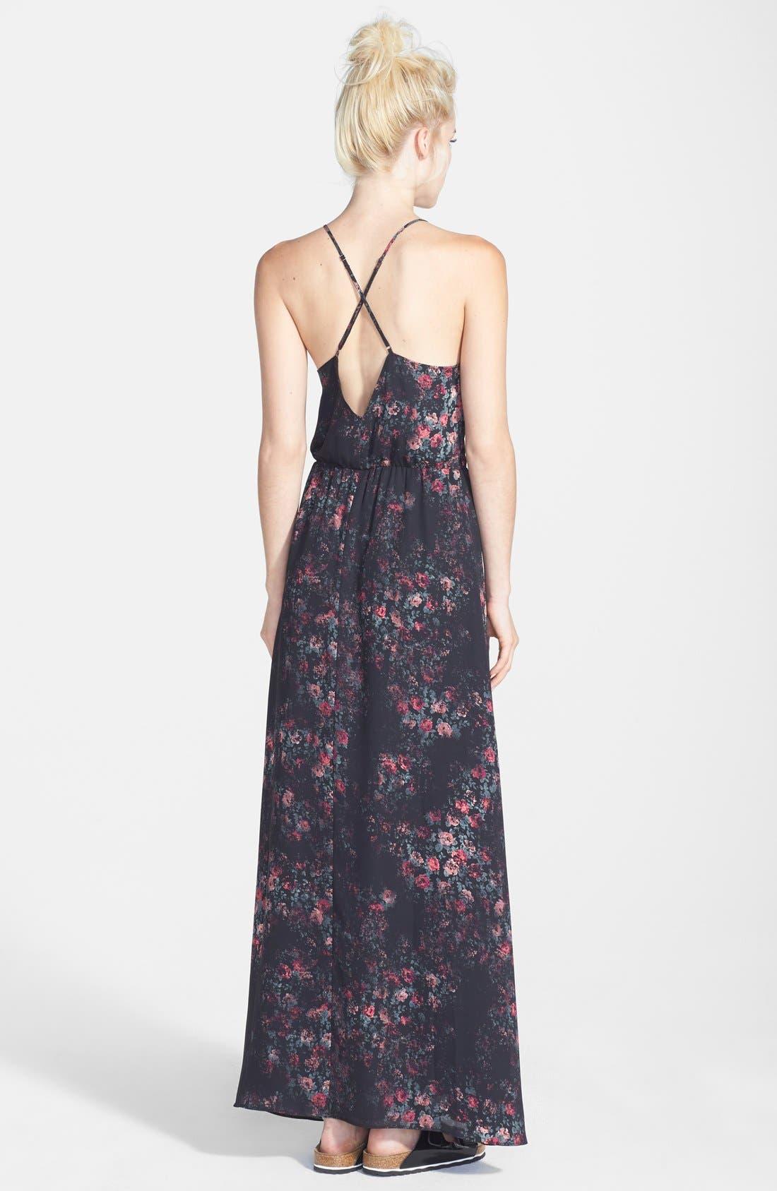 Alternate Image 2  - Tildon Floral Print Pintuck Pleat Maxi Dress