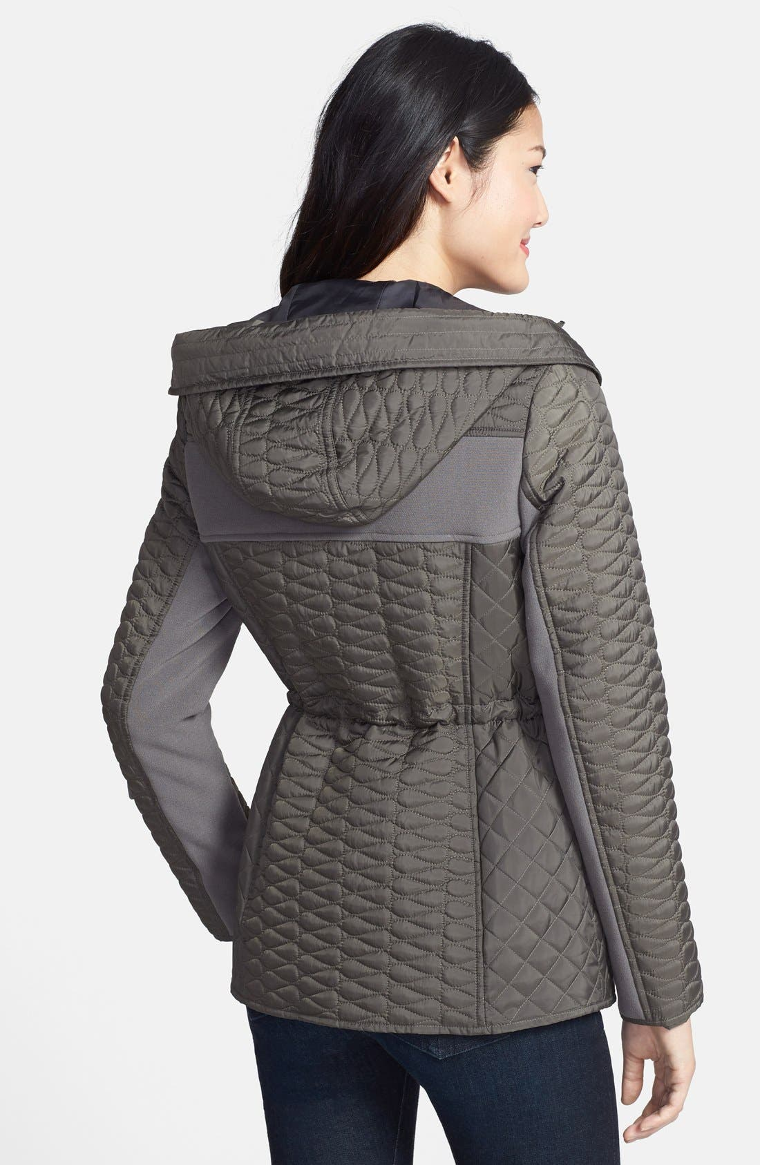 Hooded Quilted Parka,                             Alternate thumbnail 2, color,                             Smoke