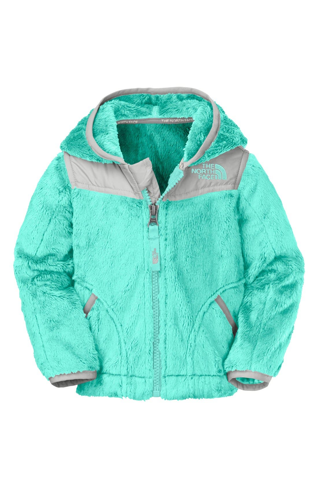 Main Image - The North Face 'Oso' Hooded Fleece Jacket (Baby Girls)