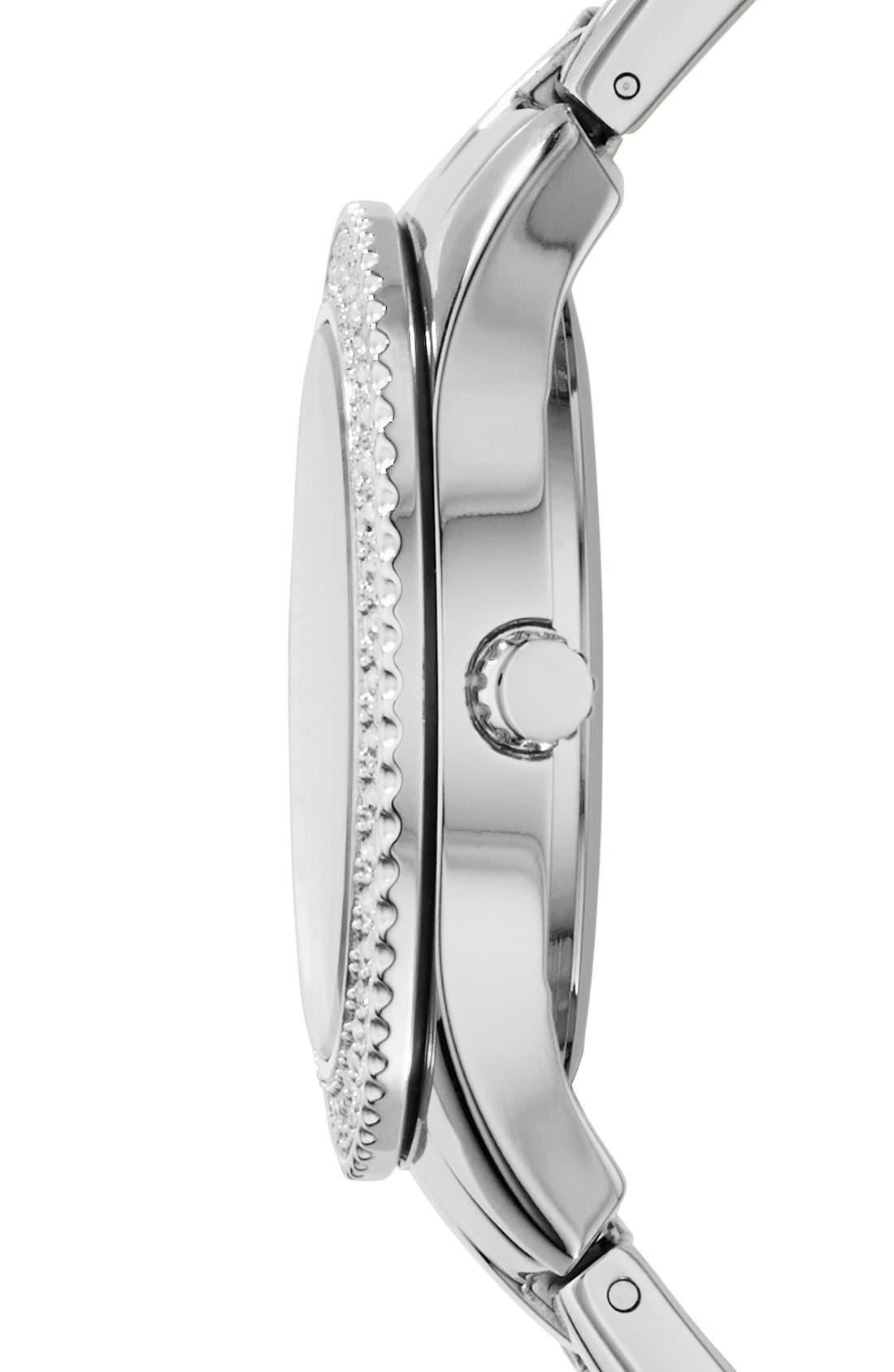 Alternate Image 3  - Fossil 'Stella' Crystal Bezel Multifunction Bracelet Watch, 38mm