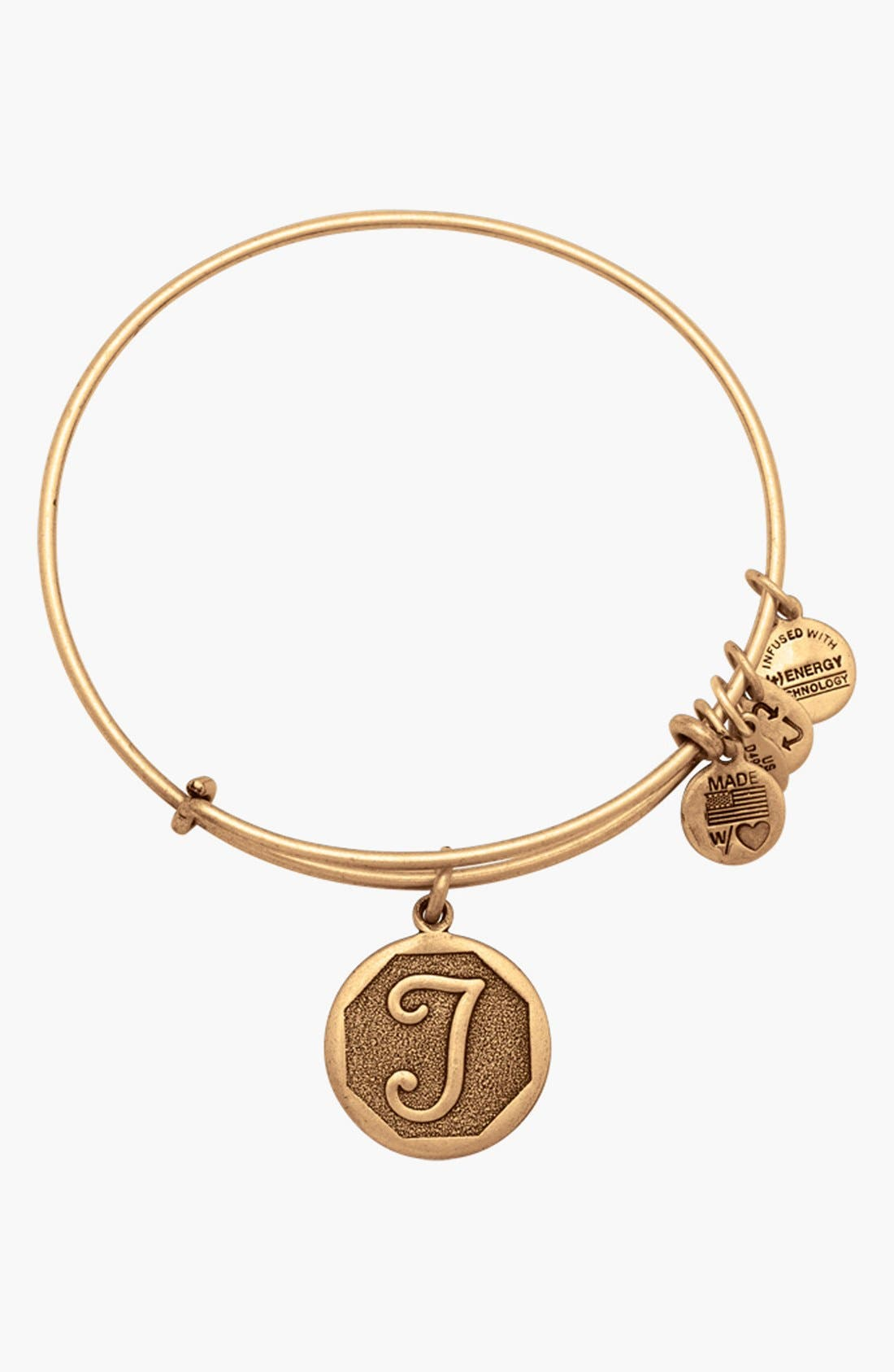 Alex and Ani 'Initial' Adjustable Wire Bangle
