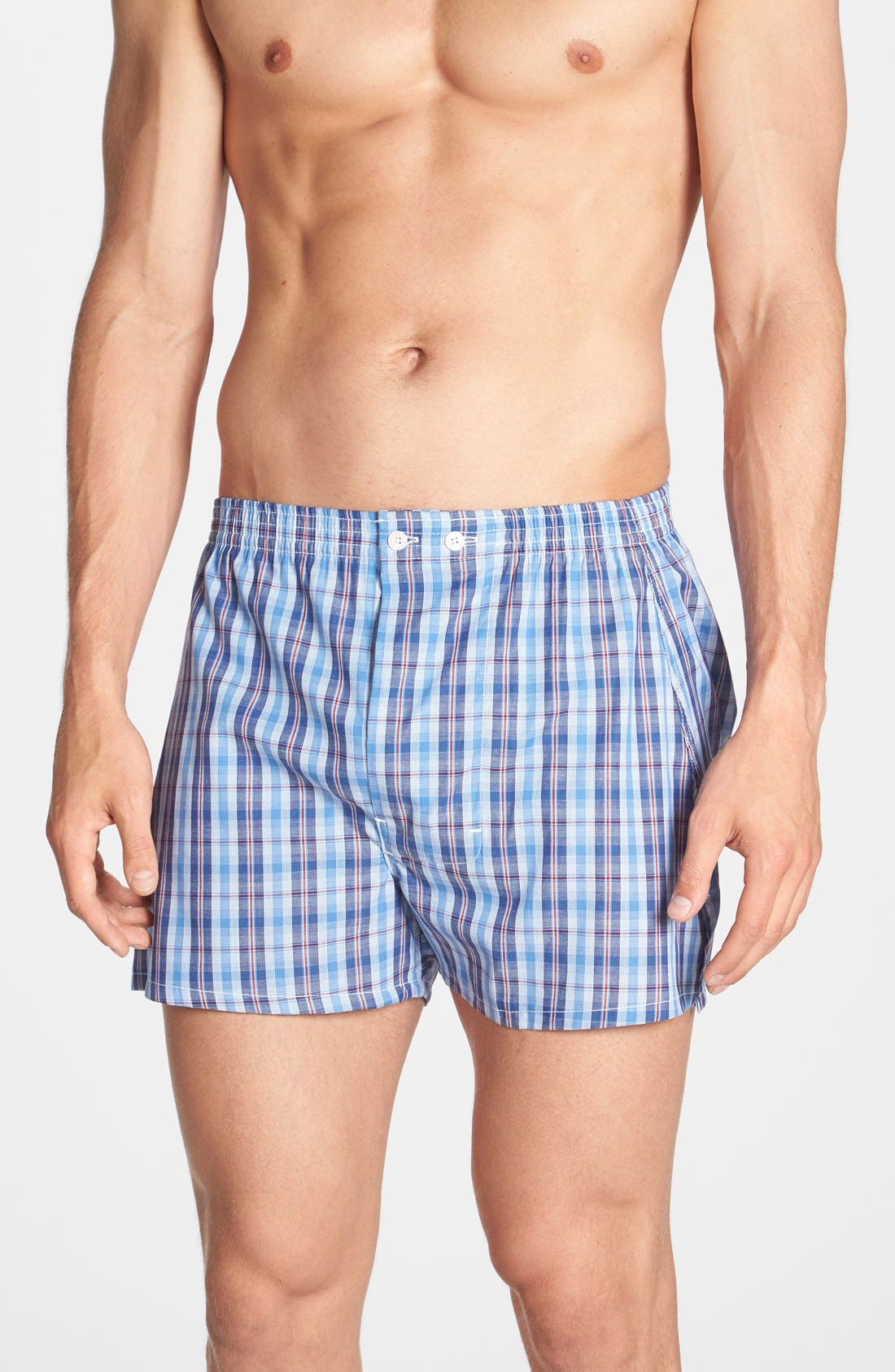 Alternate Image 1 Selected - Nordstrom Men's Shop Classic Fit Cotton Boxers (3 for $39.50)