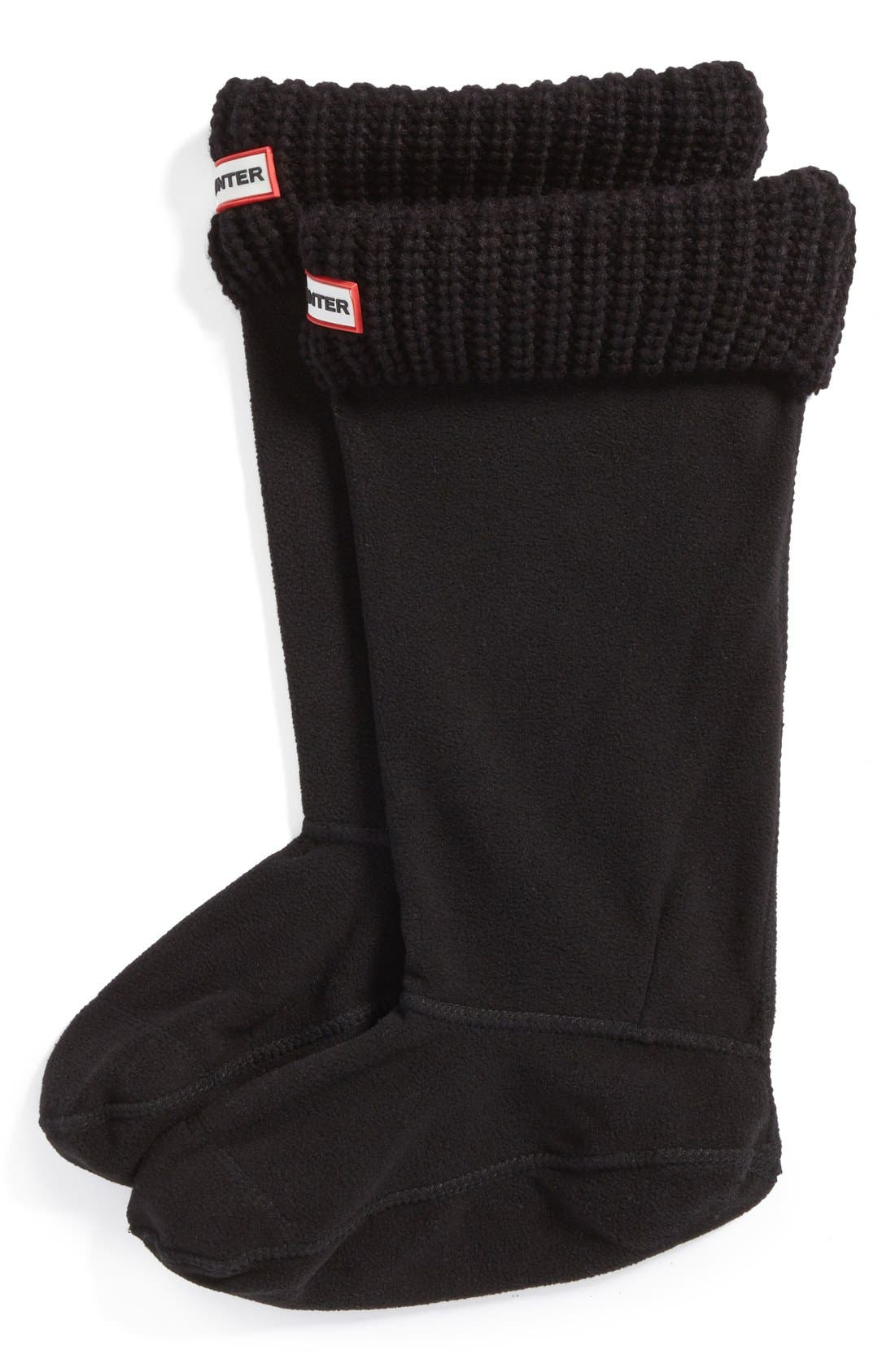Hunter Tall Cardigan Knit Cuff Welly Boot Socks