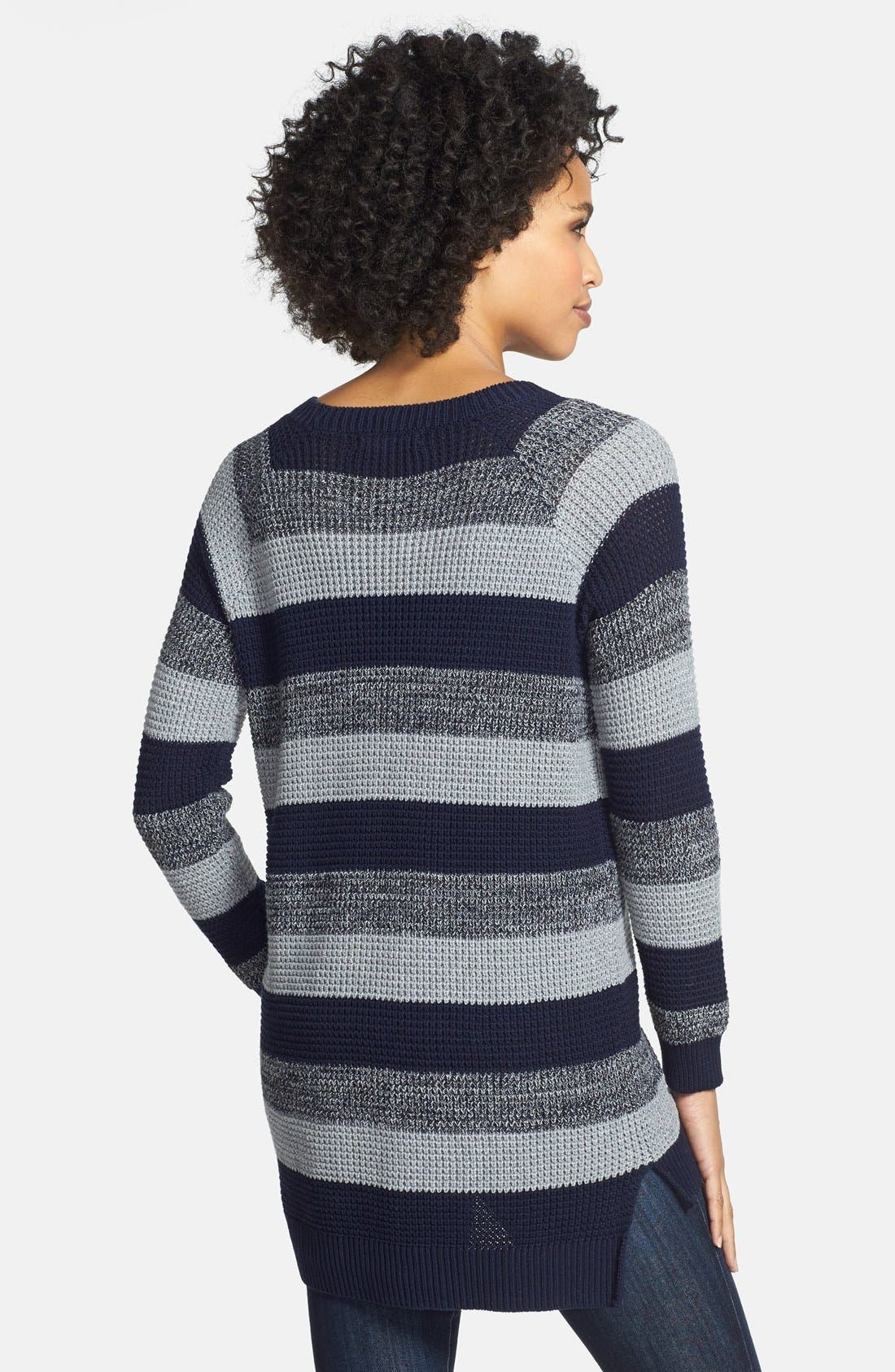 Alternate Image 2  - Two by Vince Camuto Stripe Raglan Sleeve Sweater