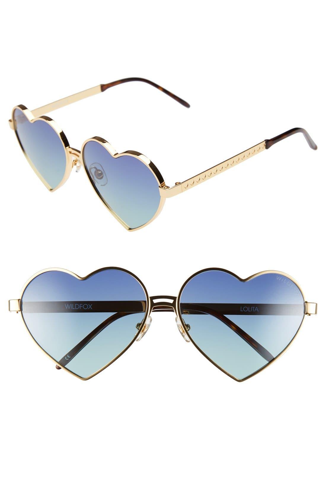 Main Image - Wildfox 'Lolita' 59mm Heart Sunglasses