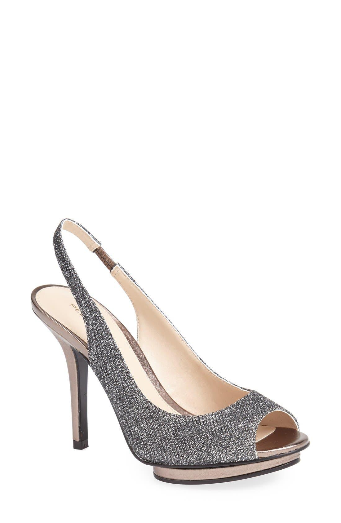 Alternate Image 1 Selected - Pelle Moda 'Rivka' Open Toe Platform Slingback Sandal (Women)