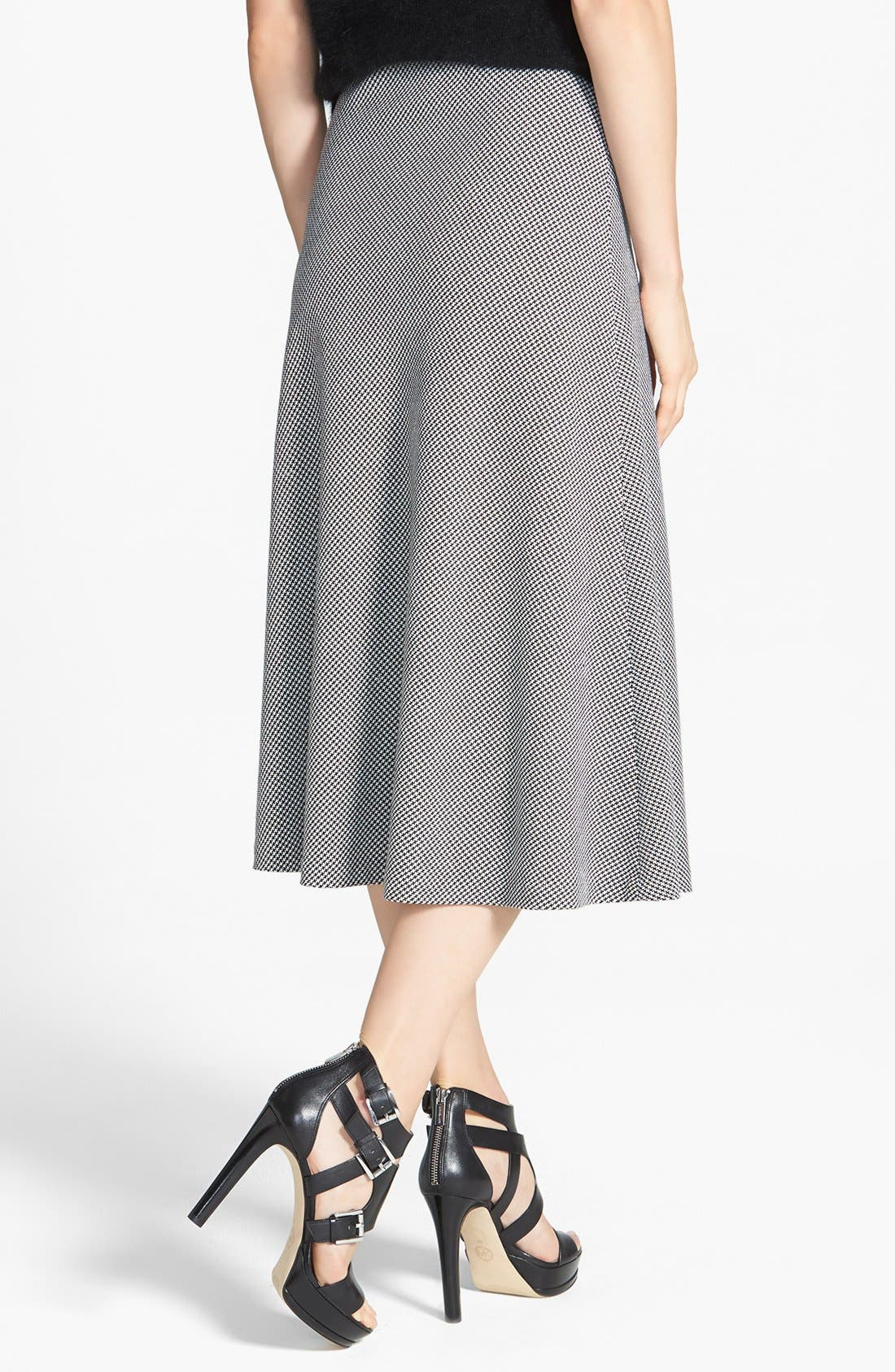 Alternate Image 2  - MICHAEL Michael Kors Houndstooth Circle Skirt