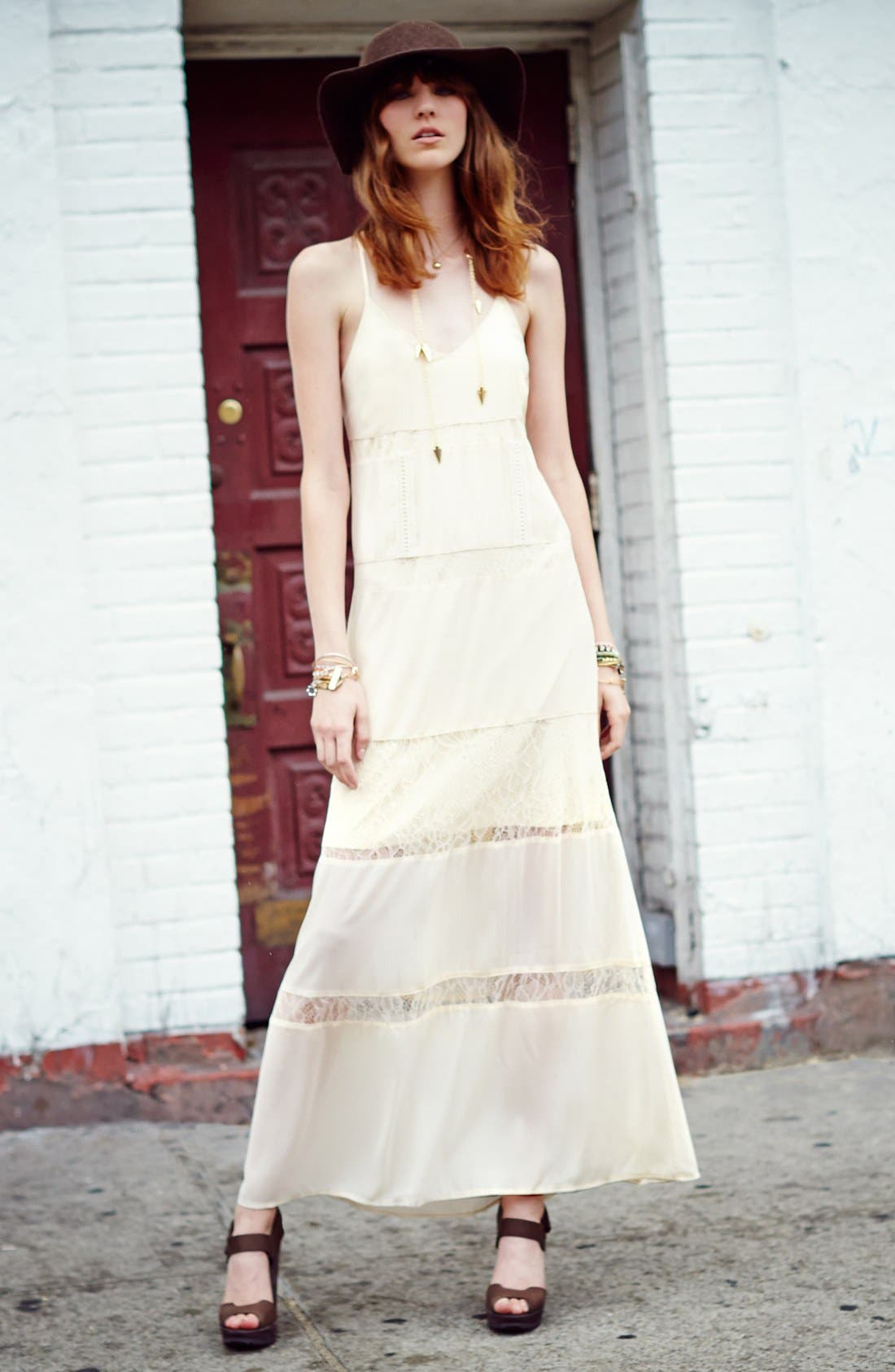 Alternate Image 4  - ASTR Lace Inset Maxi Dress