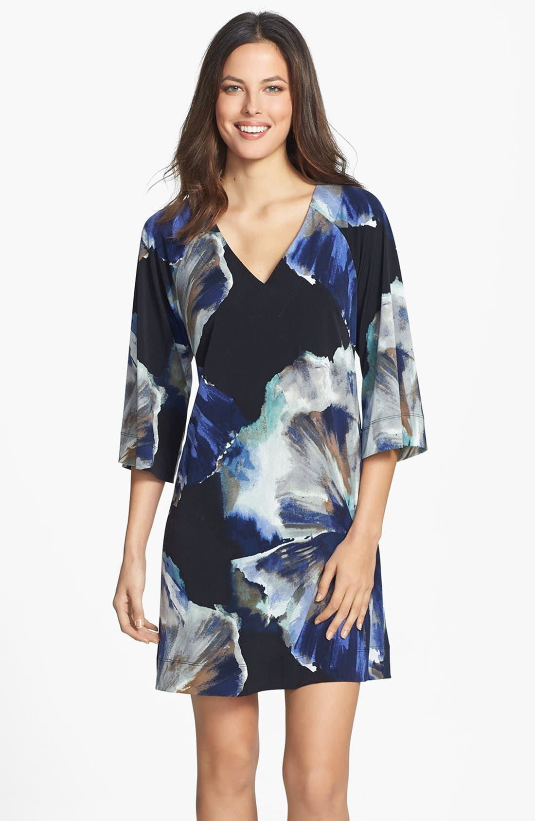 Alternate Image 1 Selected - Donna Ricco Print Jersey Shift Dress