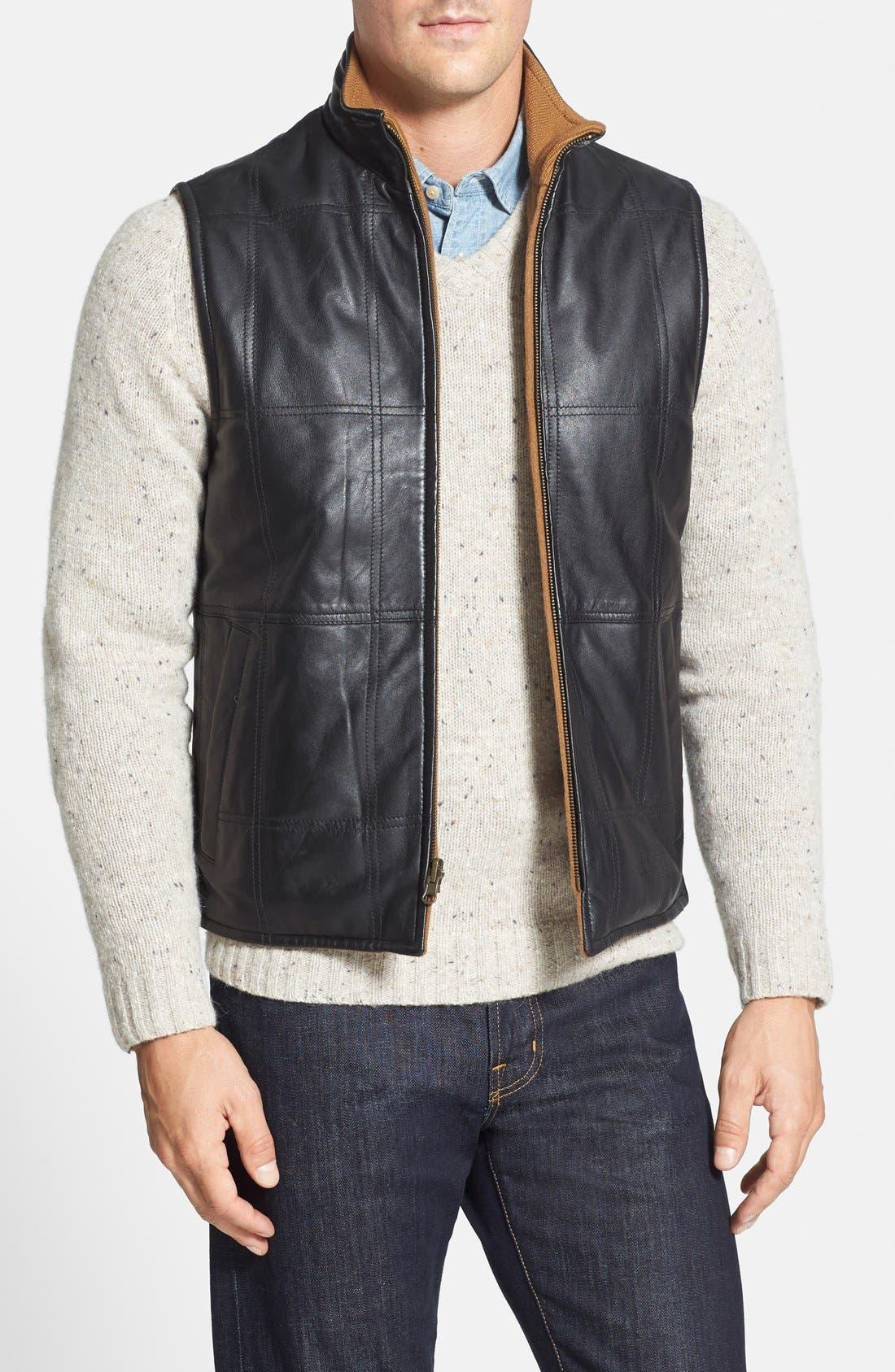 Missani Le Collezioni Classic Fit Reversible Leather Vest ...