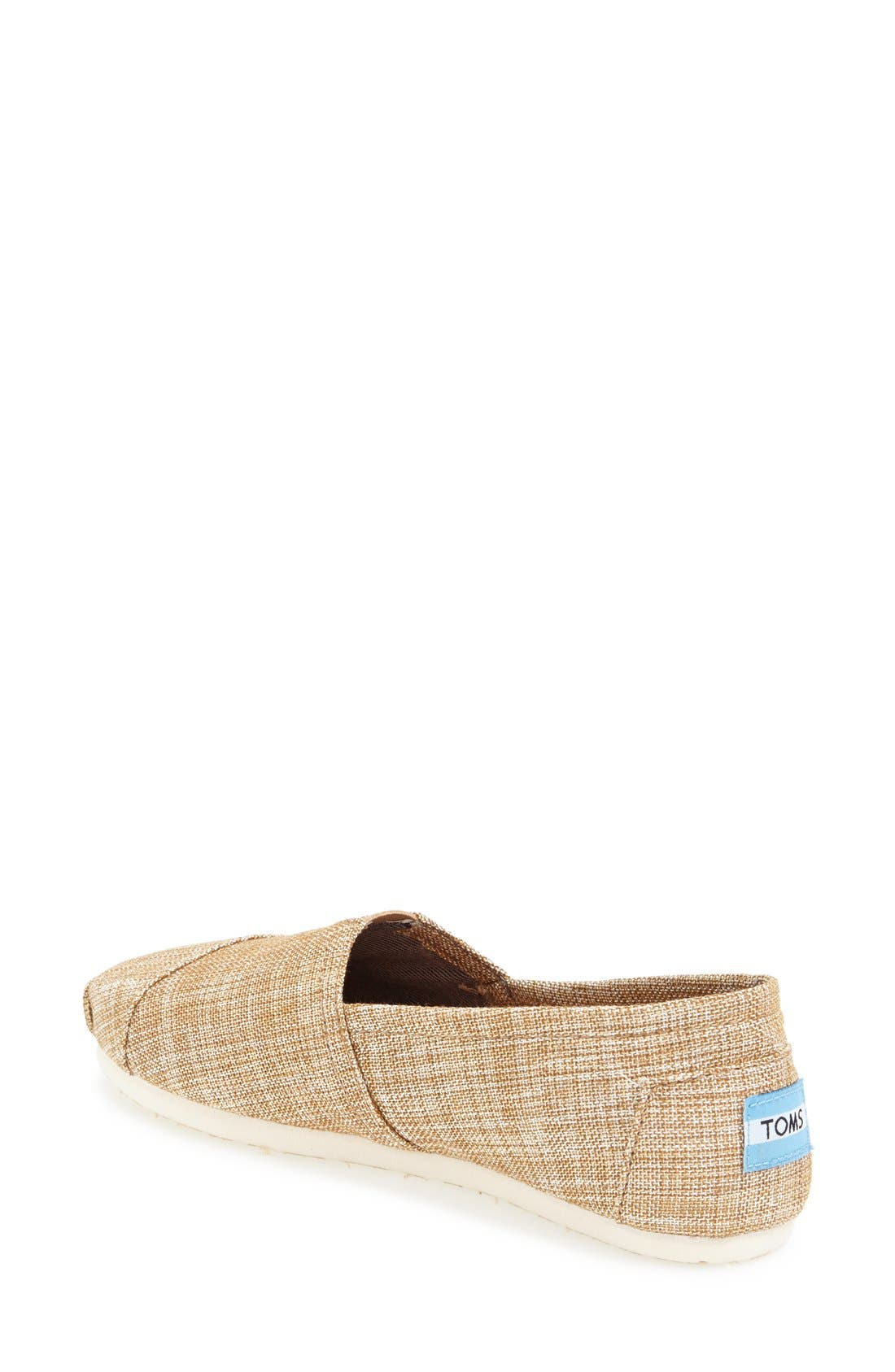 Alternate Image 2  - TOMS 'Classic' Metallic Burlap Slip-On (Women)