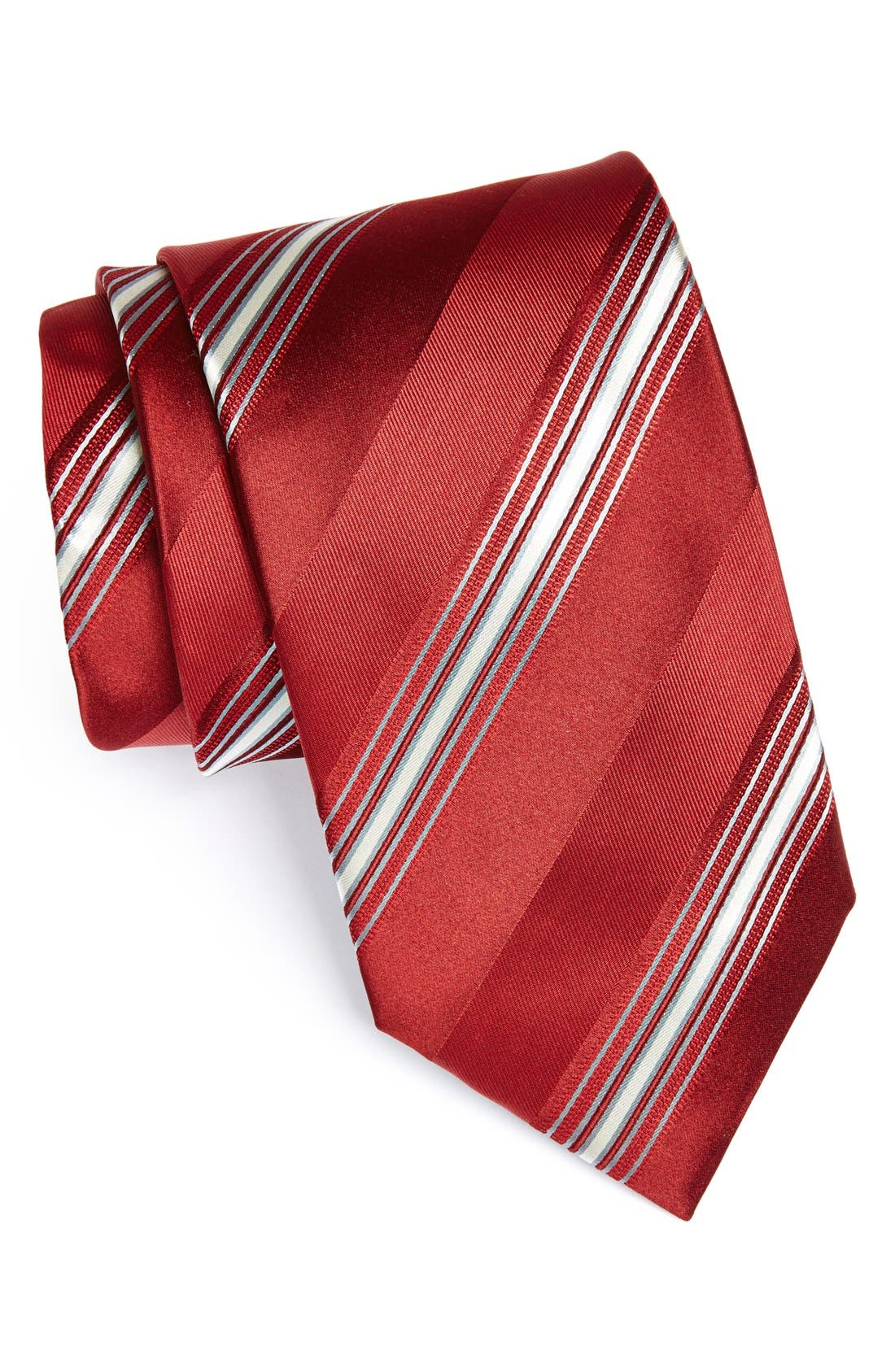 Alternate Image 1 Selected - Canali Stripe Woven Silk Tie