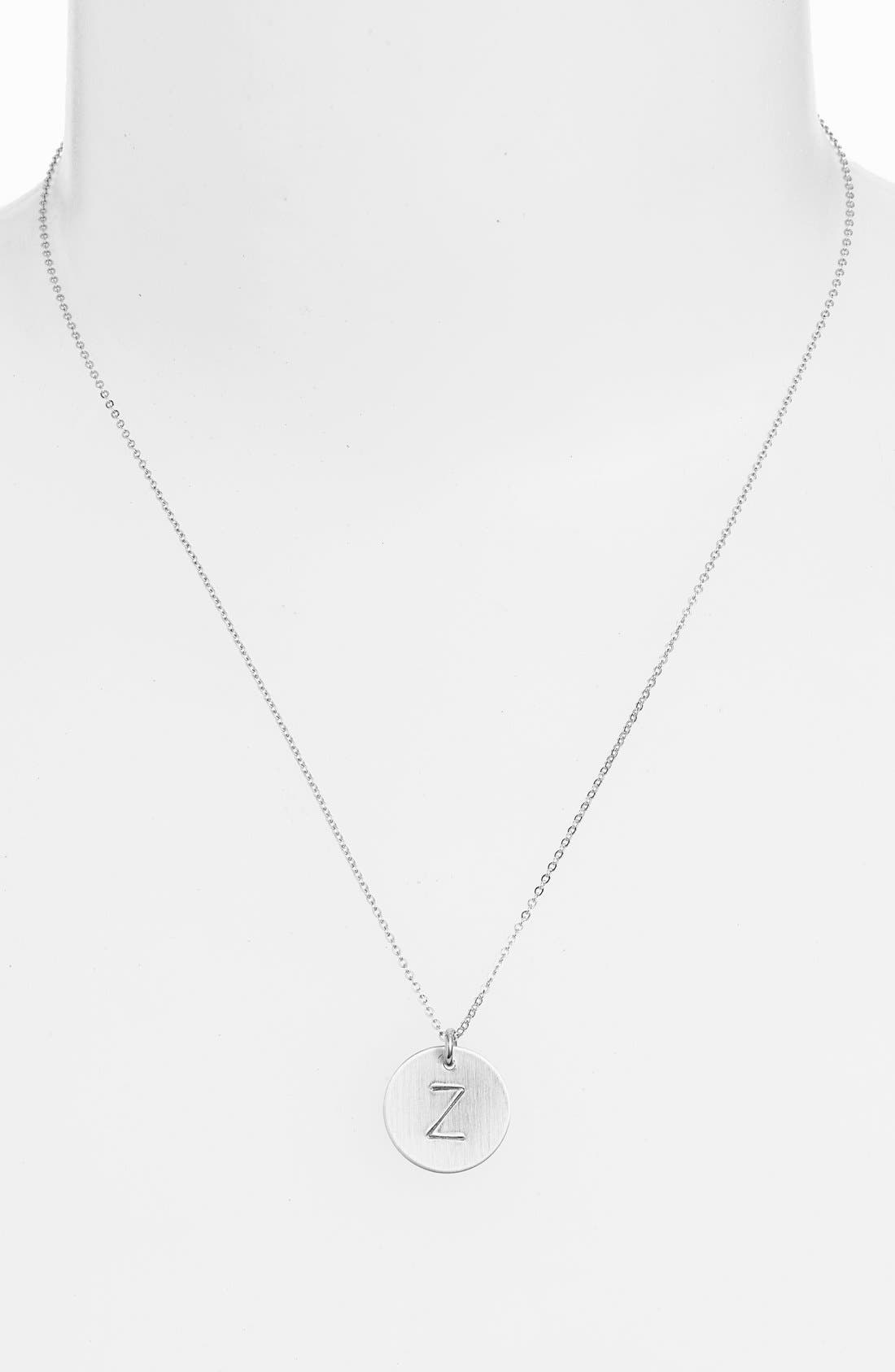 Nashelle Sterling Silver Initial Disc Necklace