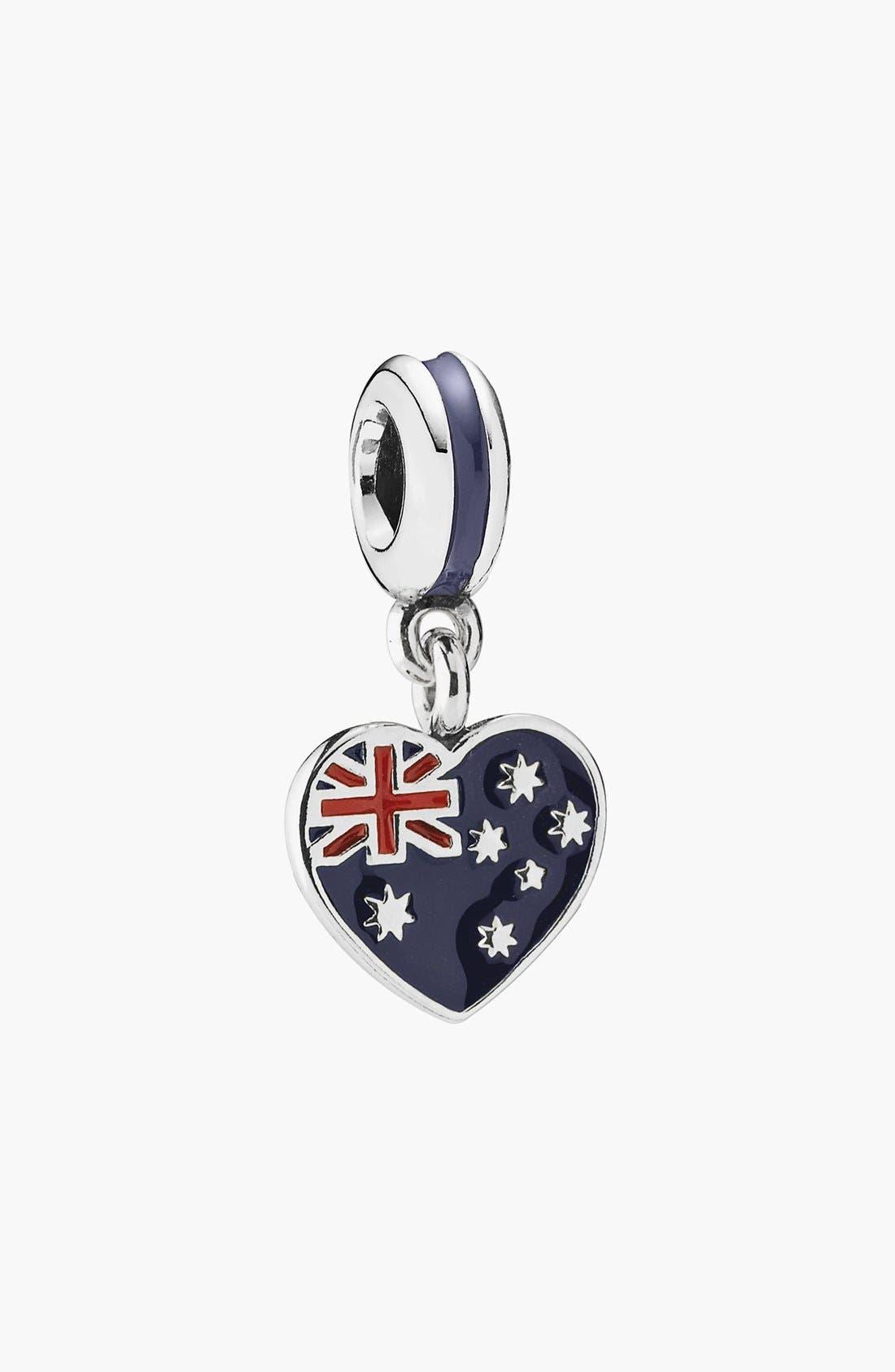 Alternate Image 1 Selected - PANDORA Australian Flag Heart Dangle Charm