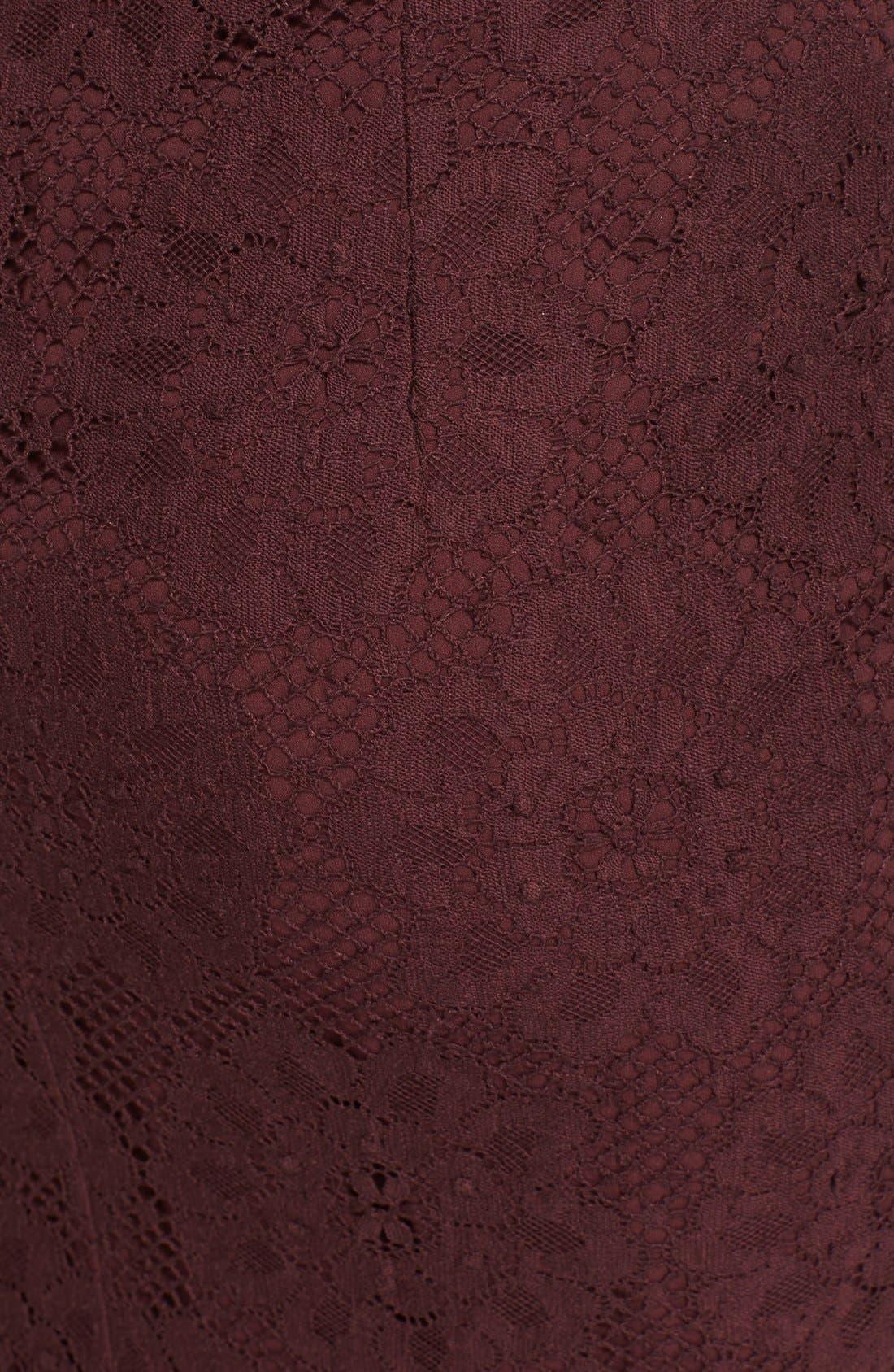 Alternate Image 3  - Burberry London Guipure Lace Pencil Skirt