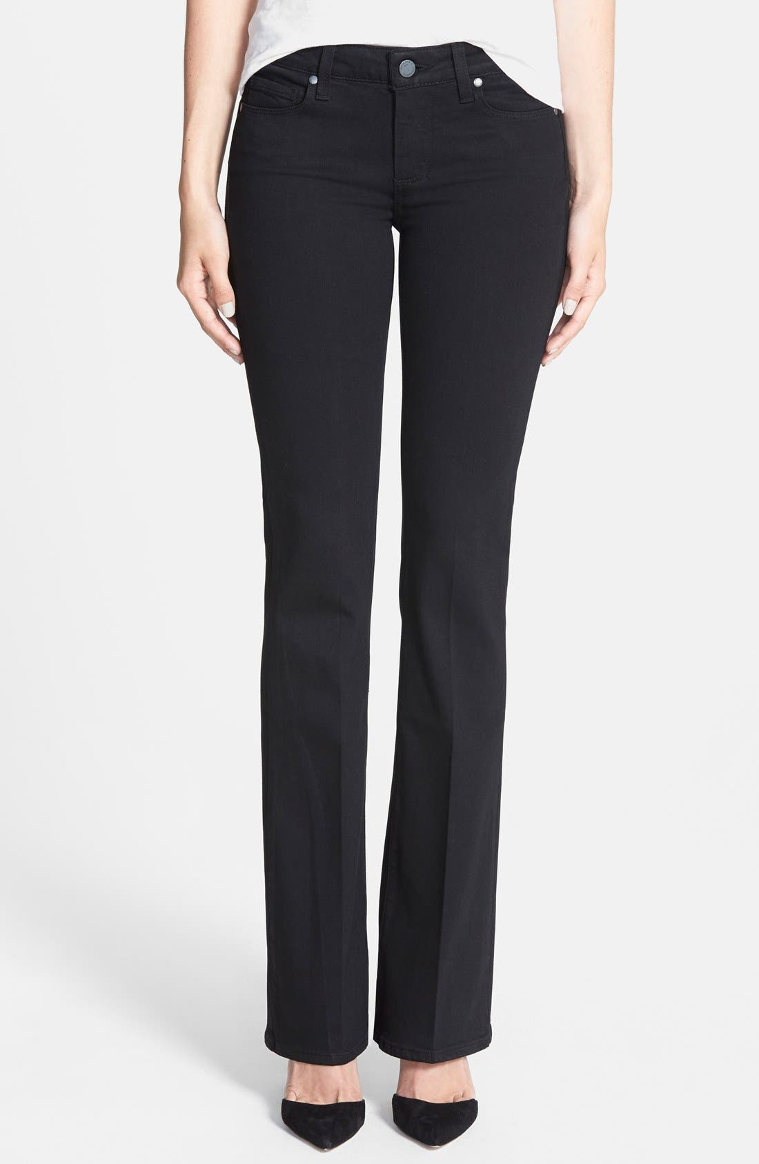 Alternate Image 1 Selected - PAIGE Transcend - Skyline Bootcut Jeans (Black Shadow)