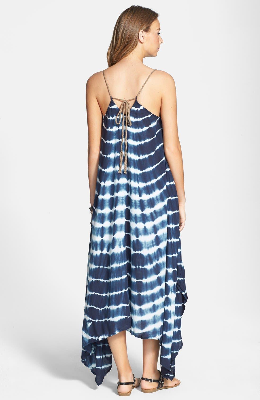 Alternate Image 2  - Billabong 'Mystic Pearl' Tie Dye Handkerchief Maxi Dress (Juniors)