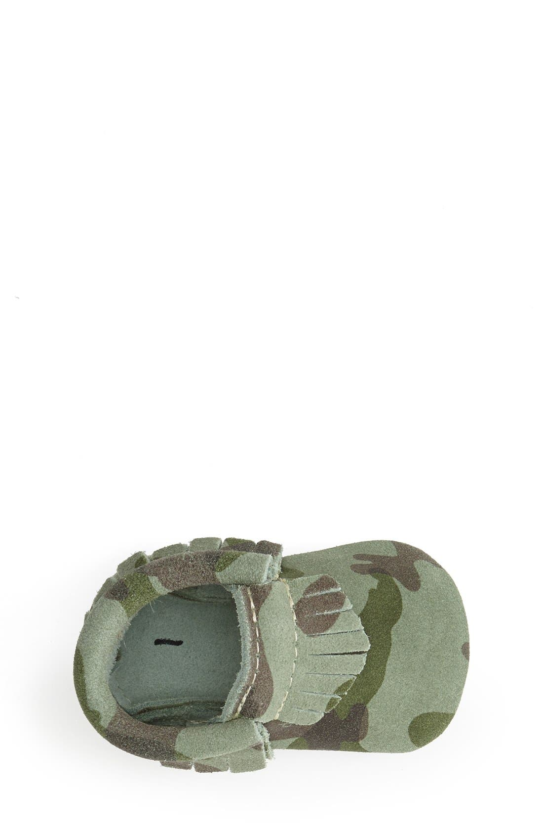 Alternate Image 3  - Freshly Picked Camo Print Suede Moccasin (Baby & Walker)